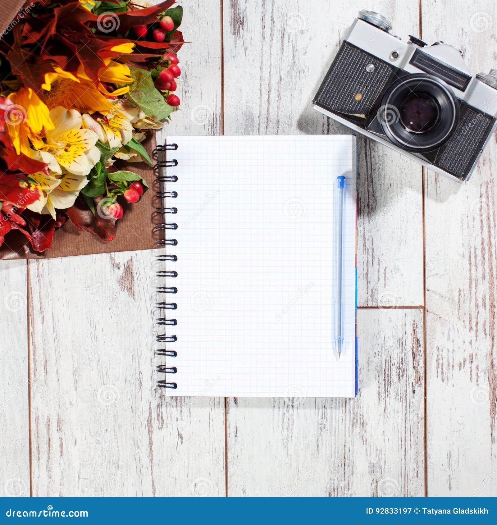 kamera mit stift f r die planung stockfoto bild 92833197. Black Bedroom Furniture Sets. Home Design Ideas