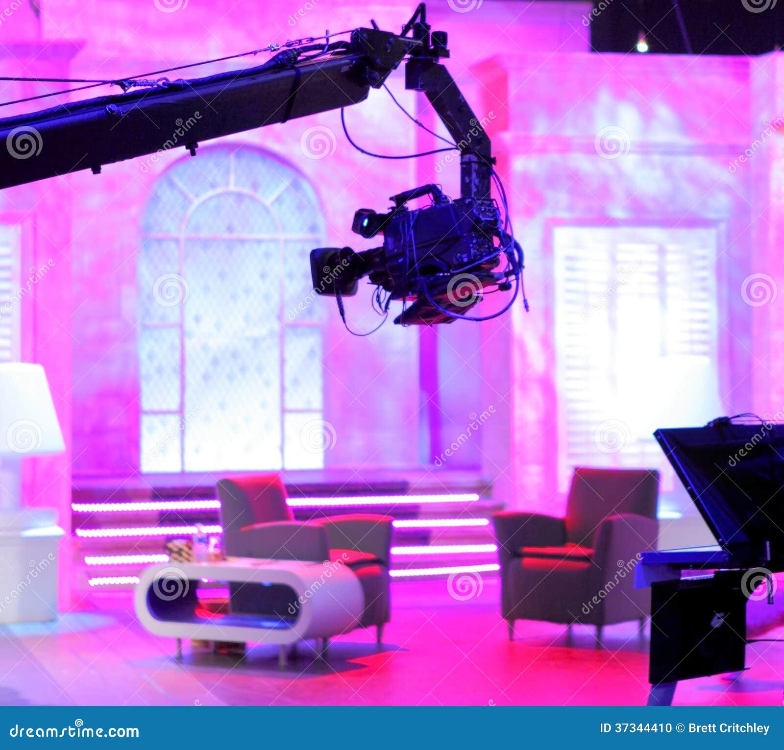Kamera på klyvarearmen i studio