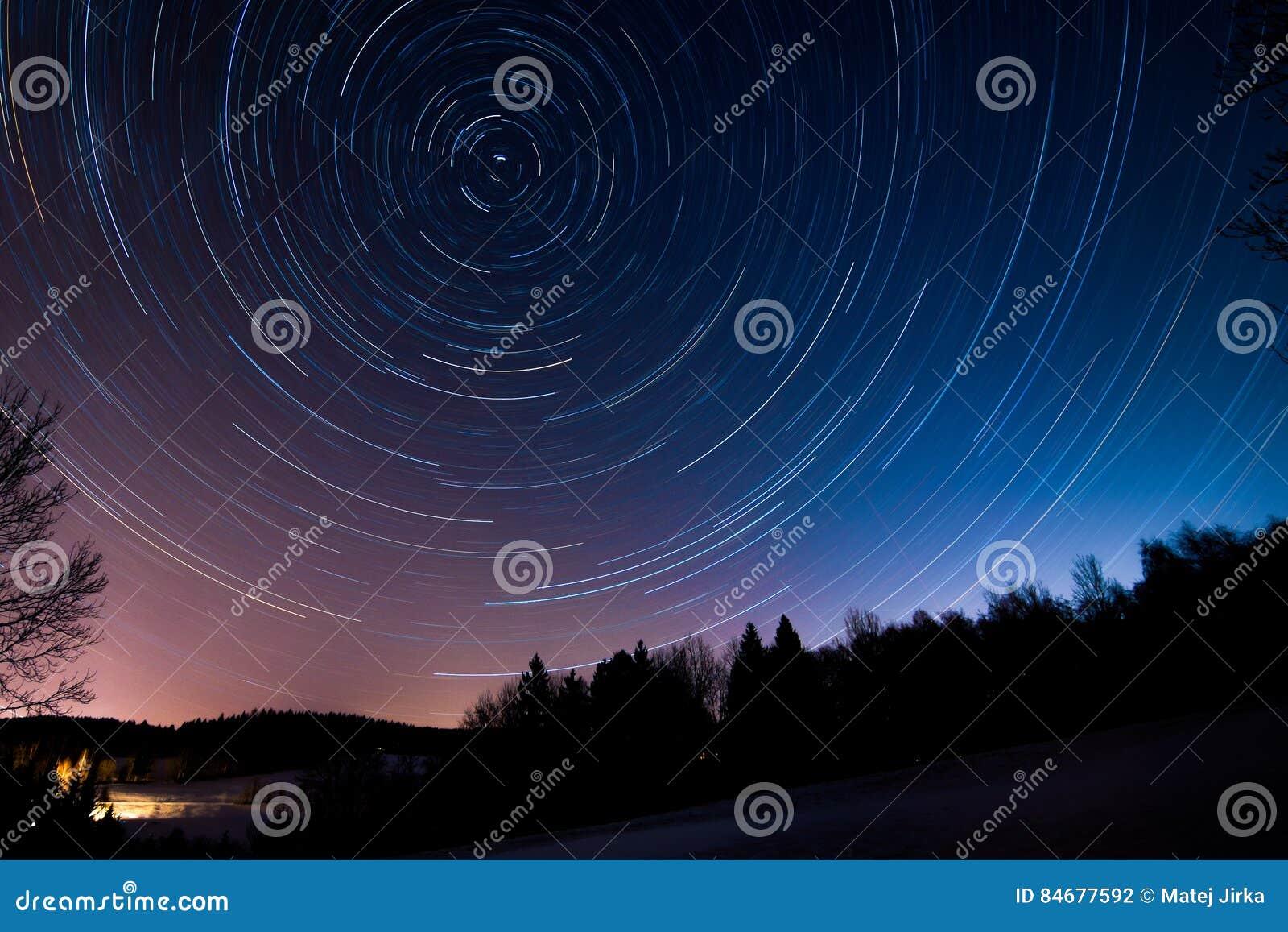 Kamera spowodować globu przepływu narażenia rotacji jest gwiazda długo ciągnie