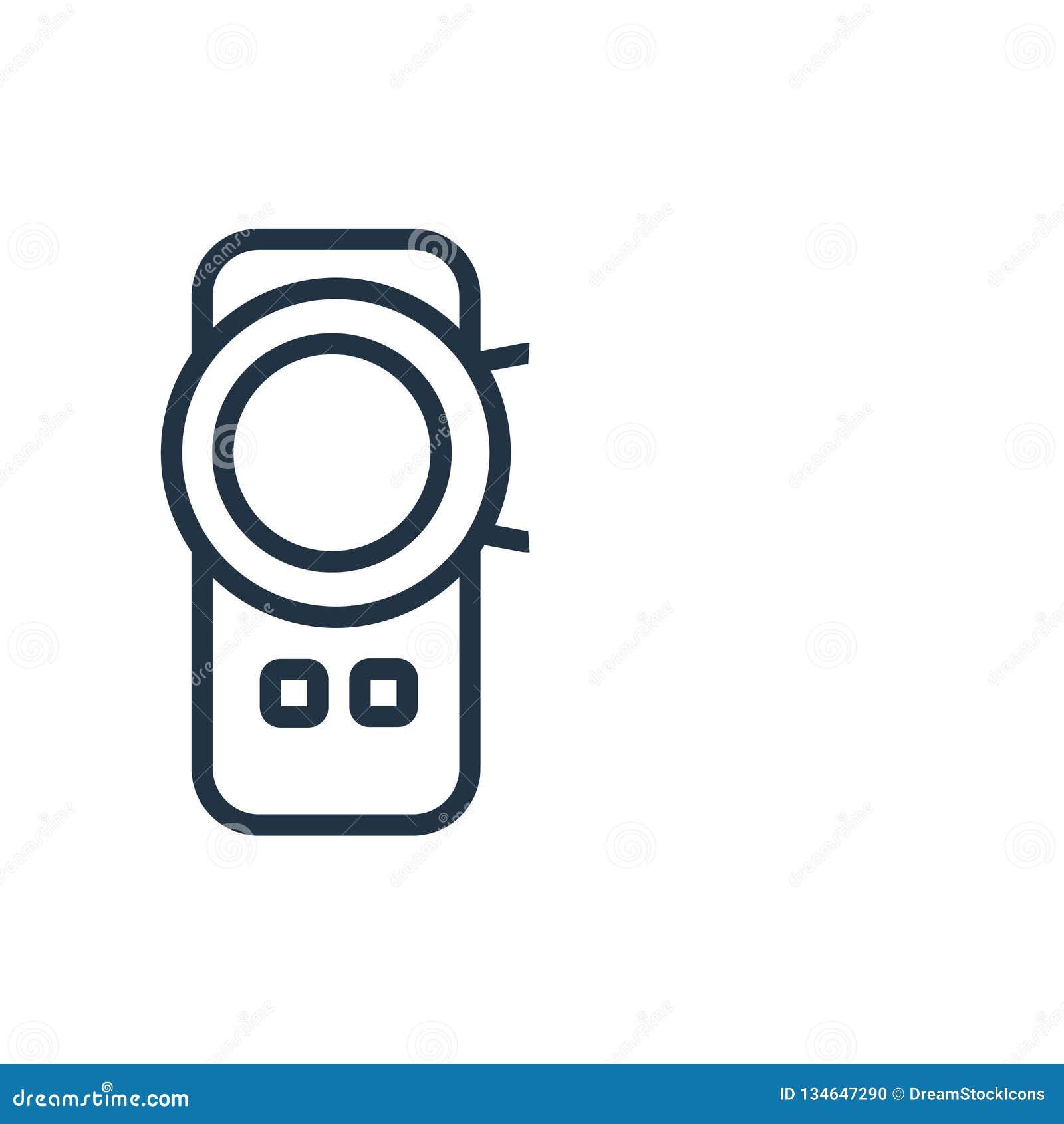 Kamera wideo ikony wektor odizolowywający na białym tle, kamera wideo znak