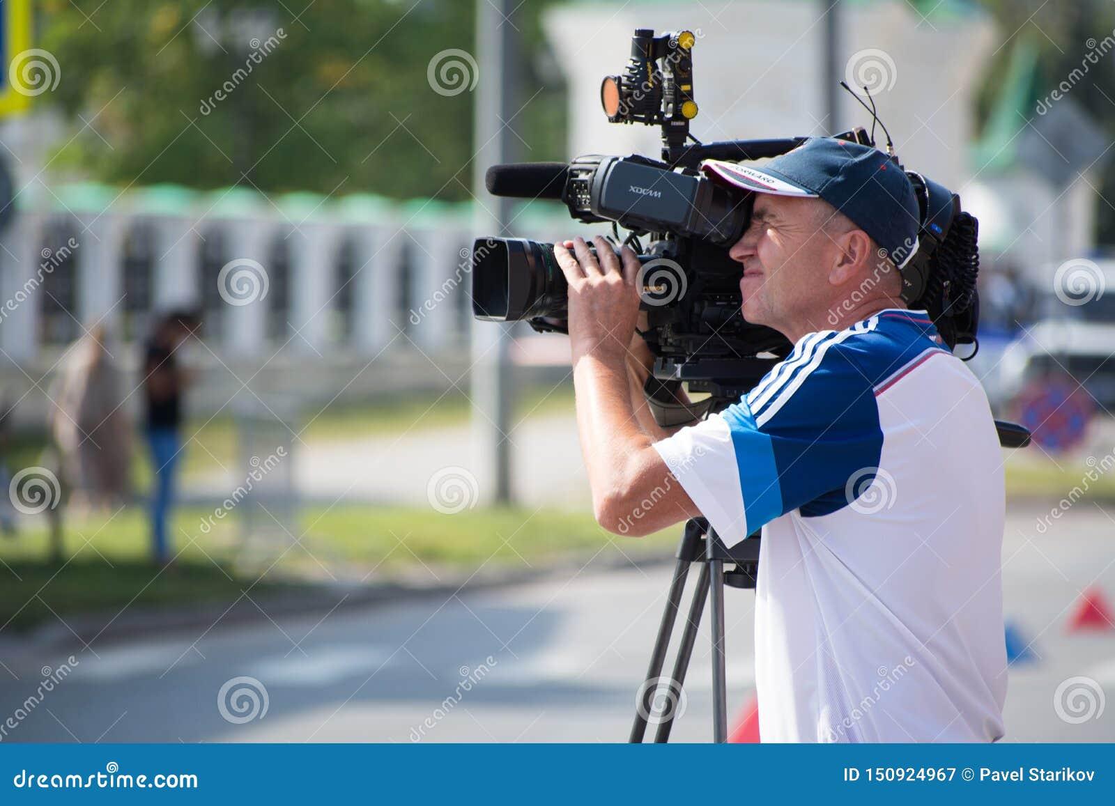 Kamera wideo operatora kamera wideo działanie