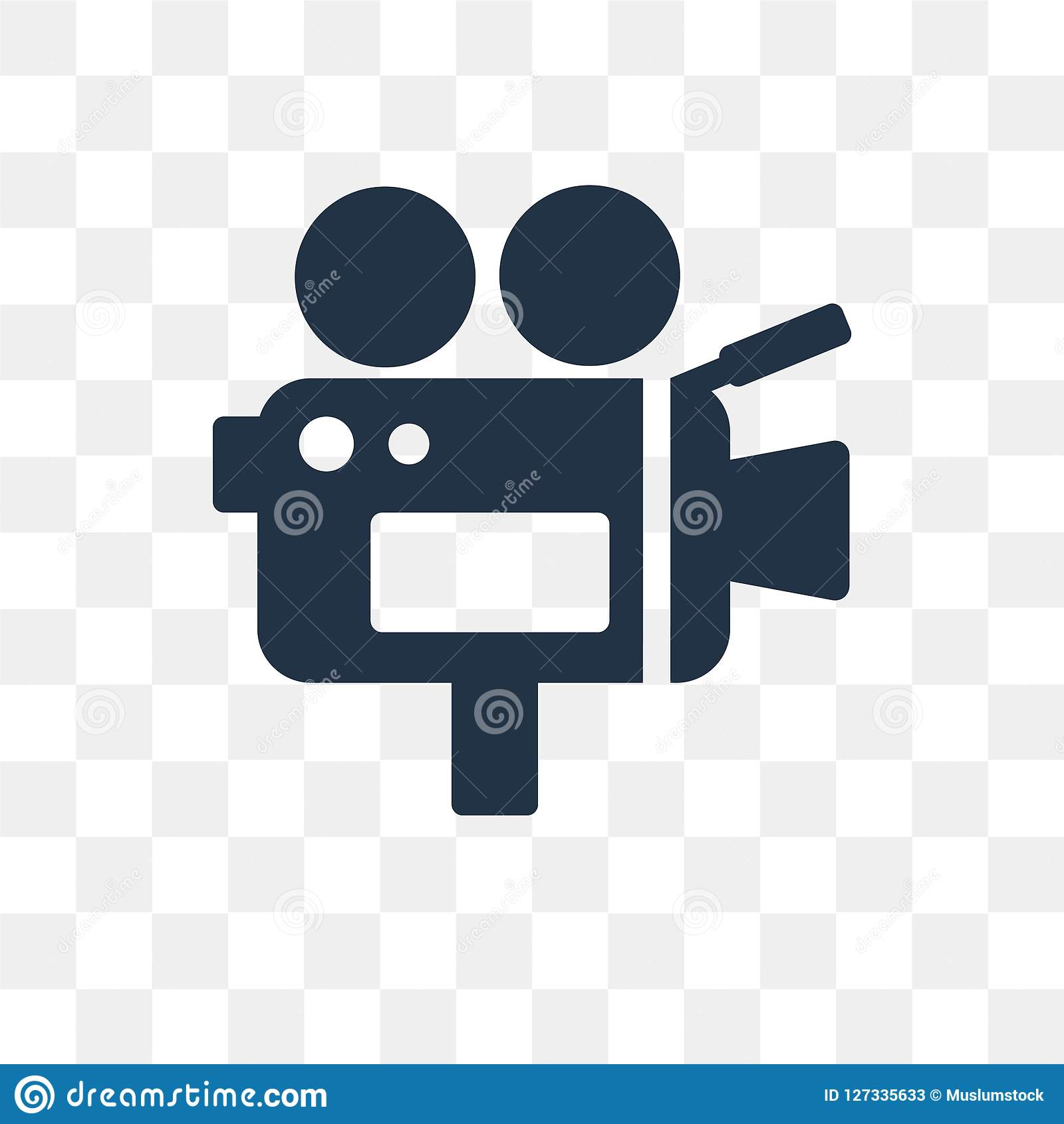 Kamera wideo wektorowa ikona odizolowywająca na przejrzystym tle, Vid