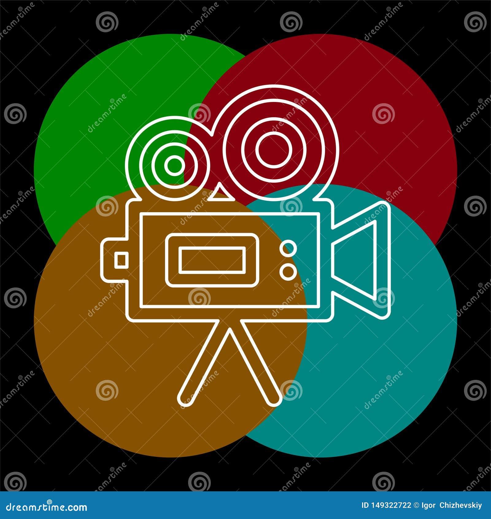 Kamera wideo wektoru ikona
