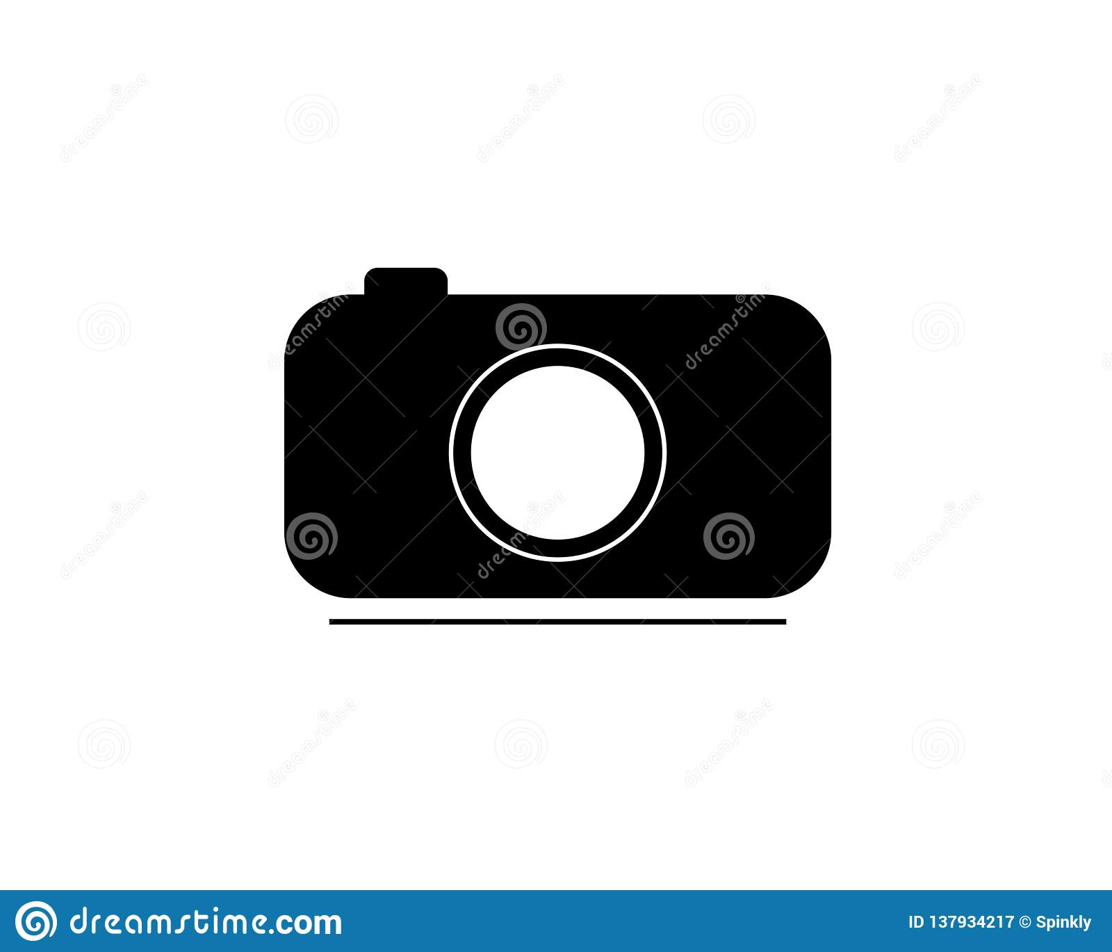 Kameraikonen- oder -vektorillustration