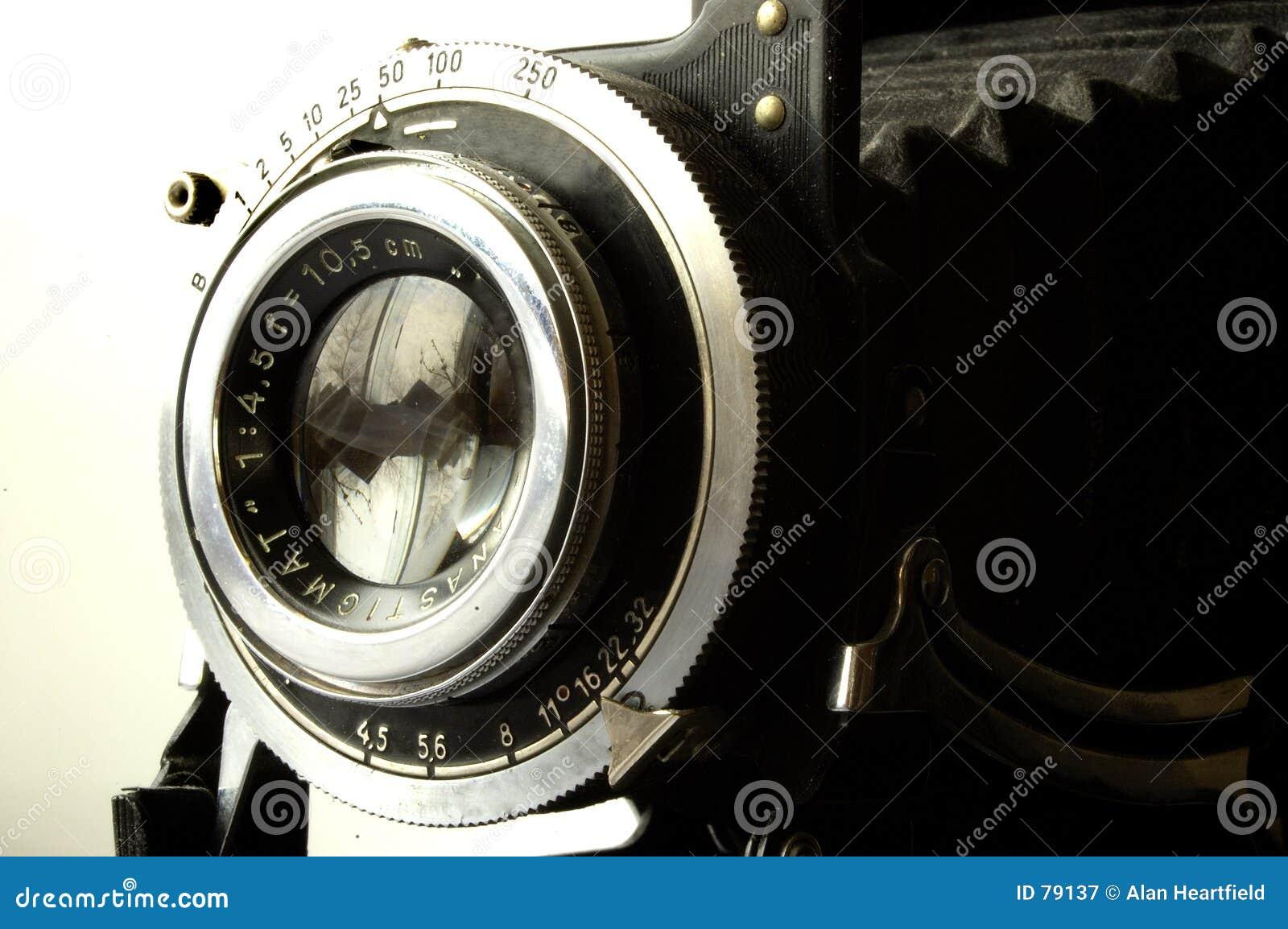 Kameraobjektiv und Blendenverschluß