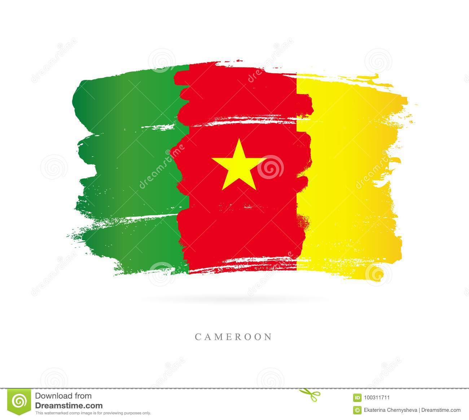 Kamerun flagę Abstrakcjonistyczny pojęcie