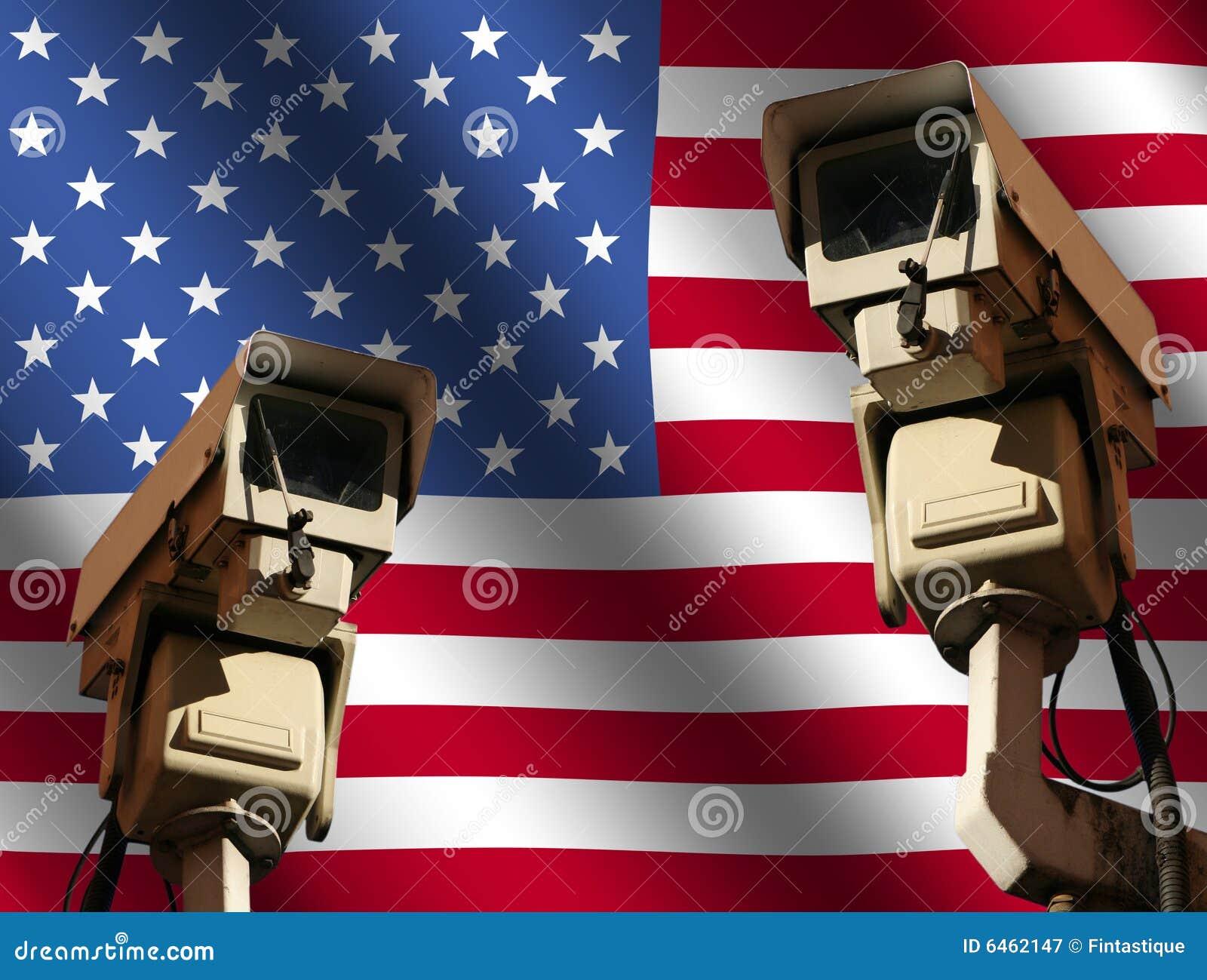 Kamery cctv banderą dwóch