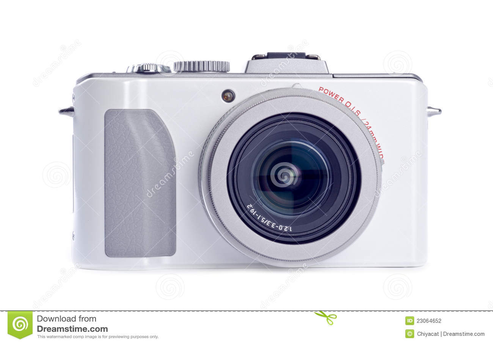 Kamery cyfrowy odosobniony punktu krótkopędu biel