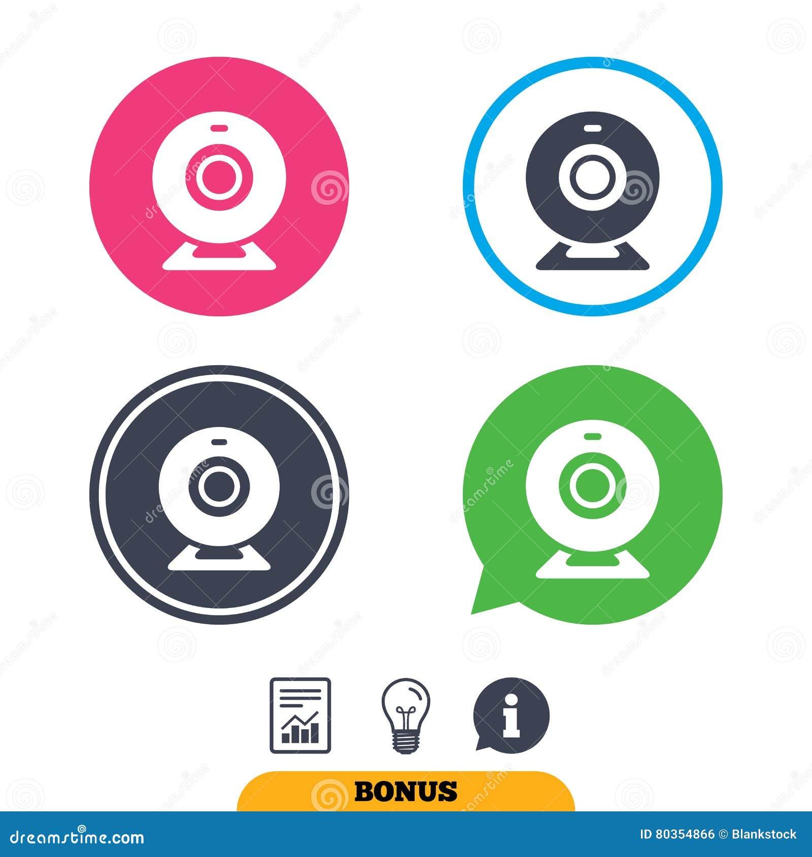 Kamery internetowej szyldowa ikona Sieci gadki wideo symbol