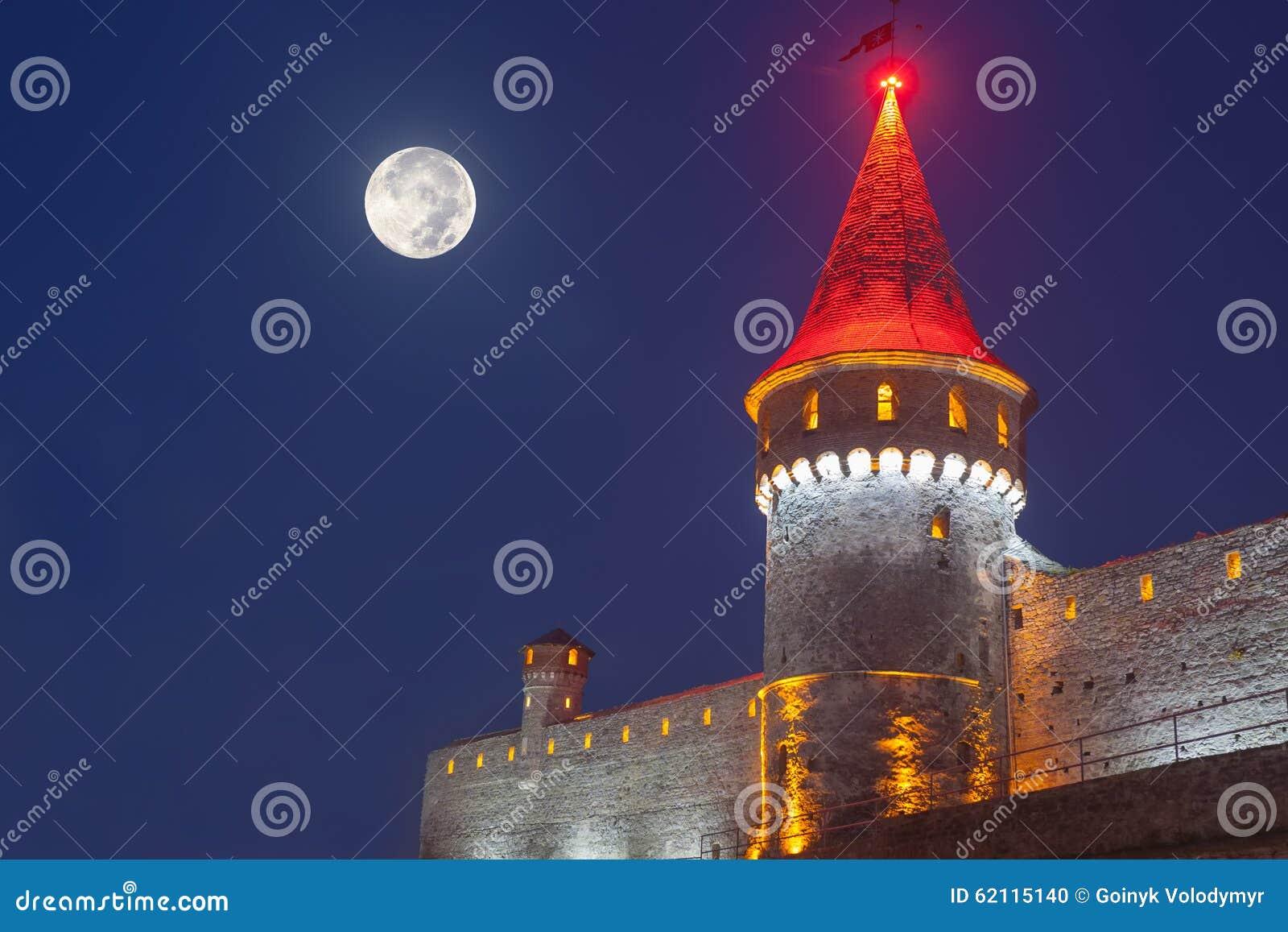 Kamianets Podilskyi在夜
