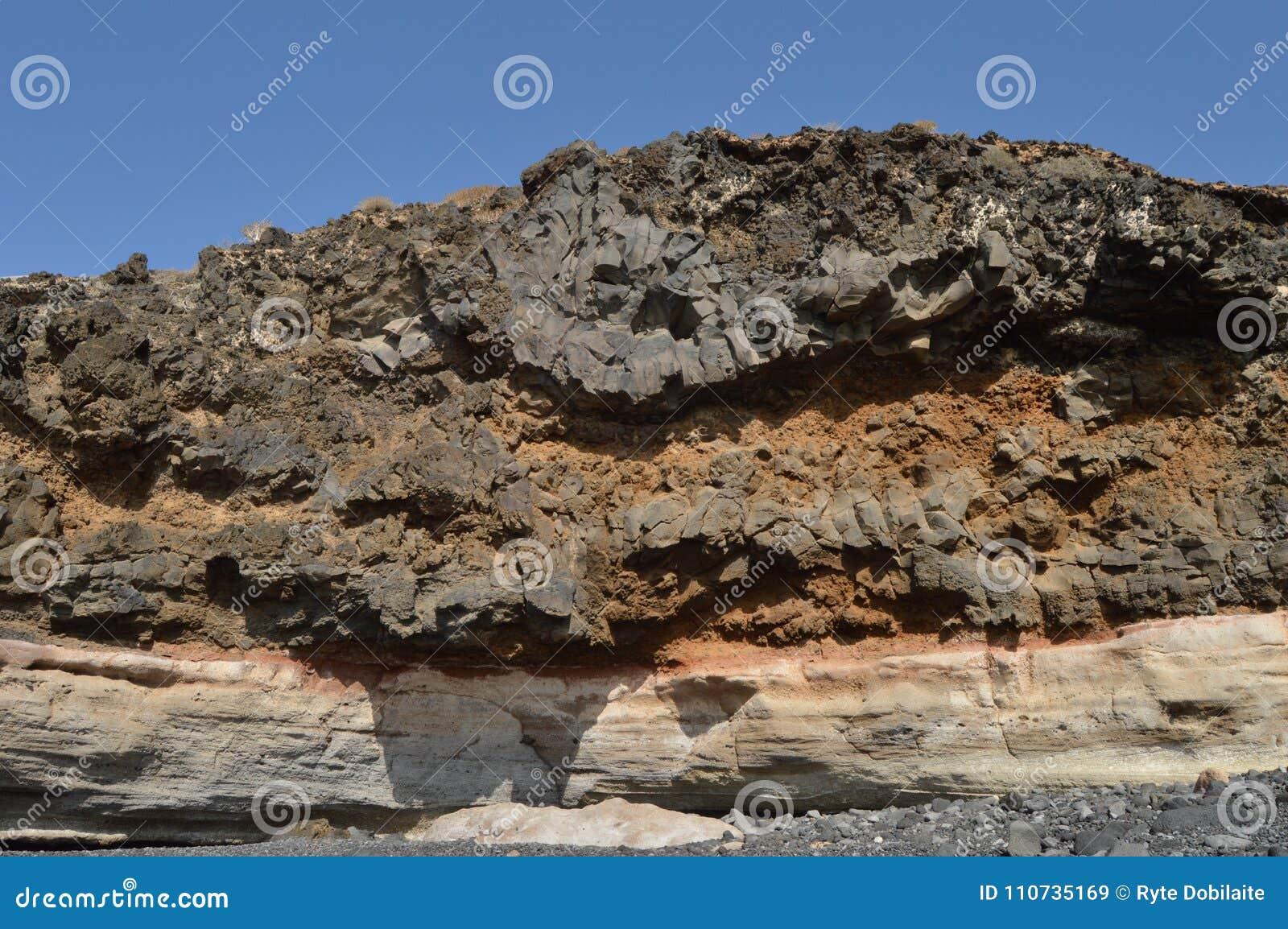 Kamienna skała i niebieskie niebo