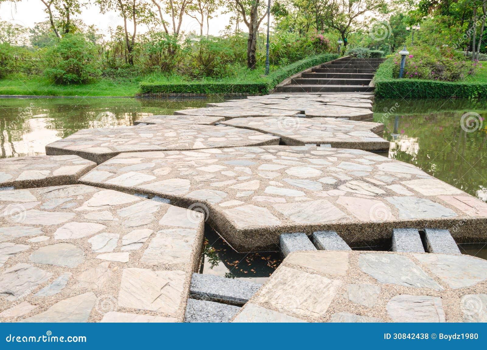 Kamienny footbridge
