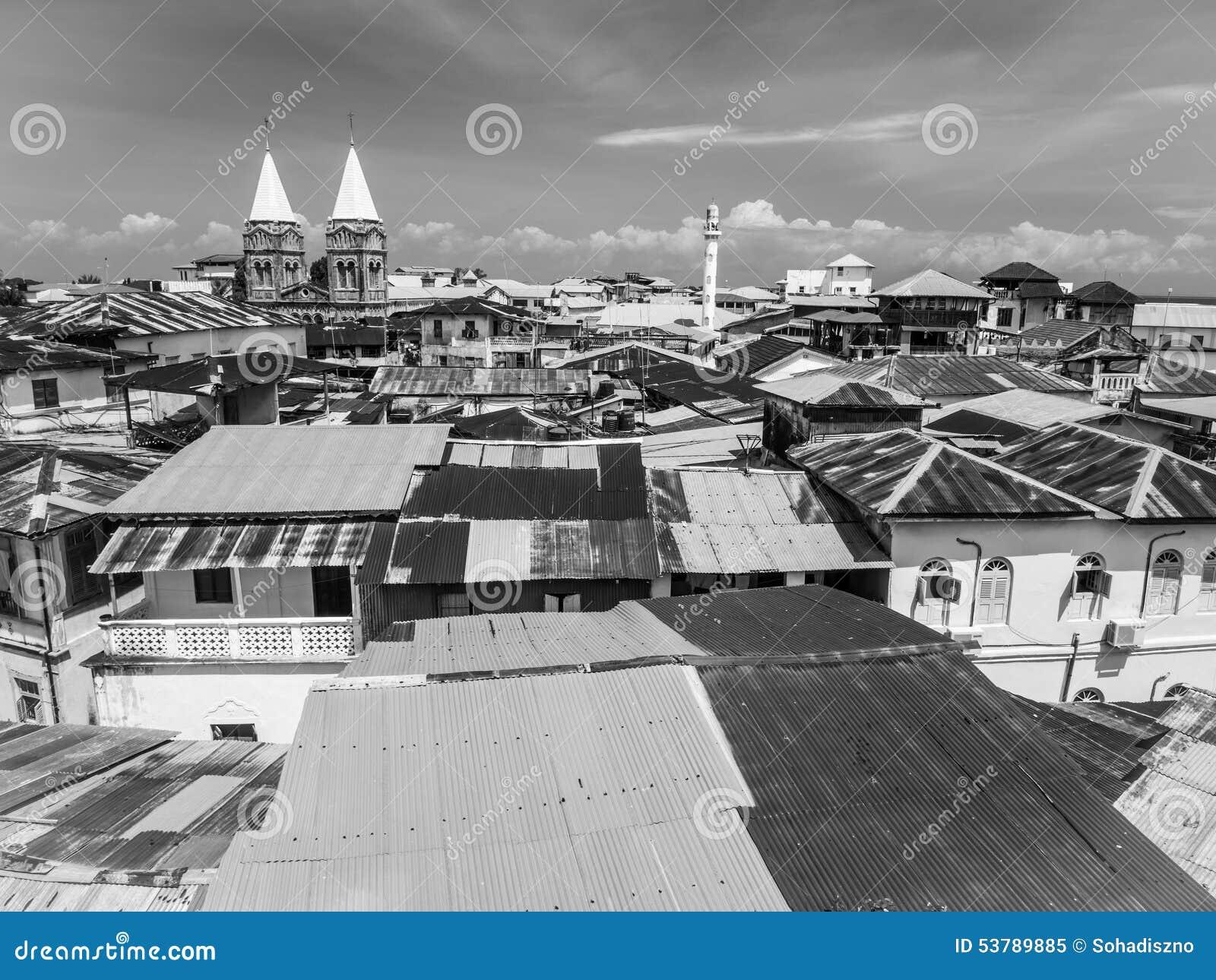 Kamienny miasteczko w Zanzibar