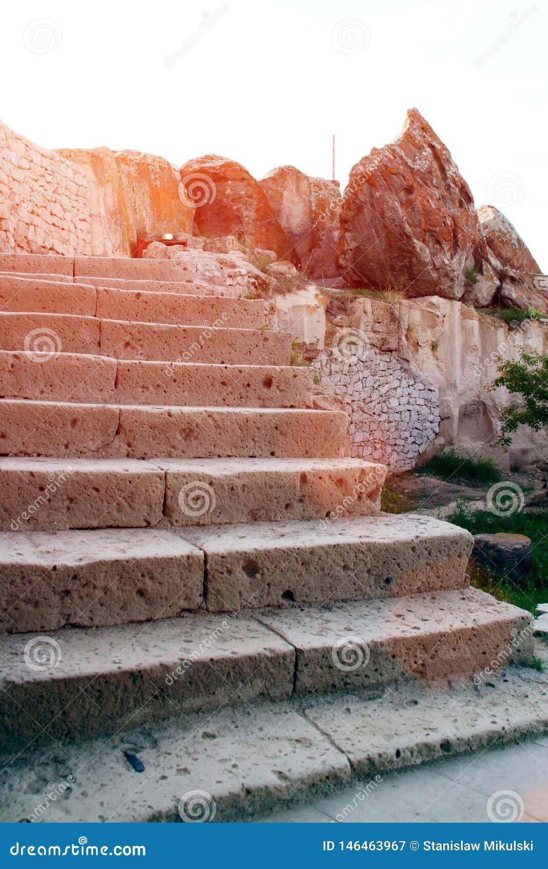 Kamienny schody w Cappadocia