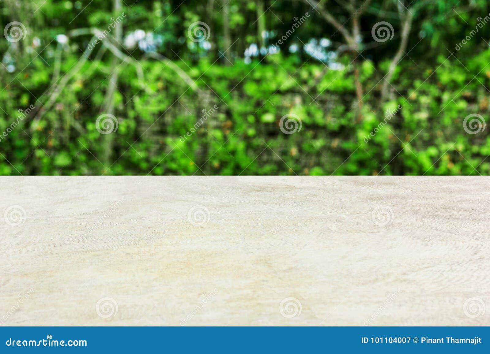 Kamienny stół z drzewem w tle