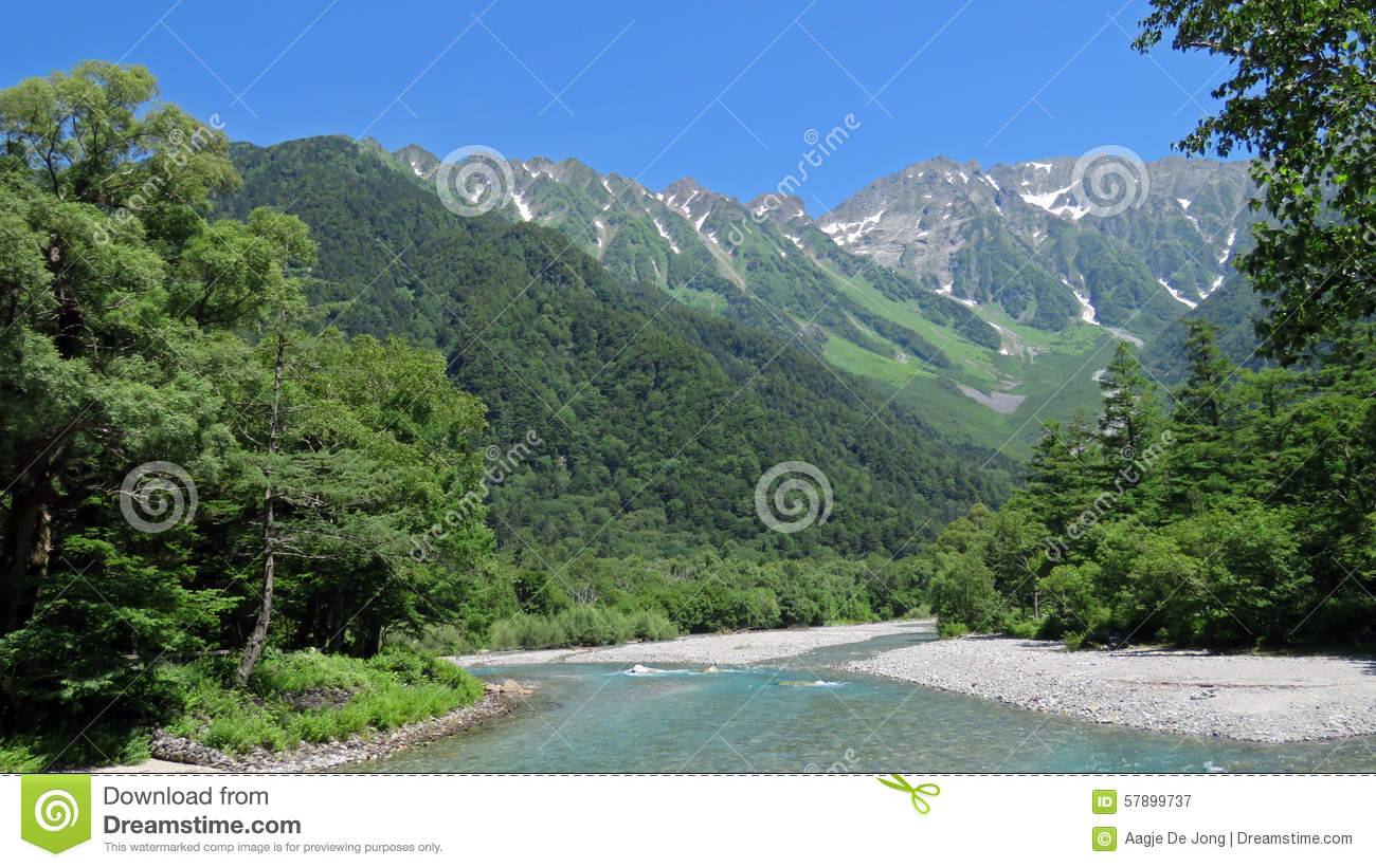 Kamikochi In The Japanese Alps Stock Photo - Image: 57899737