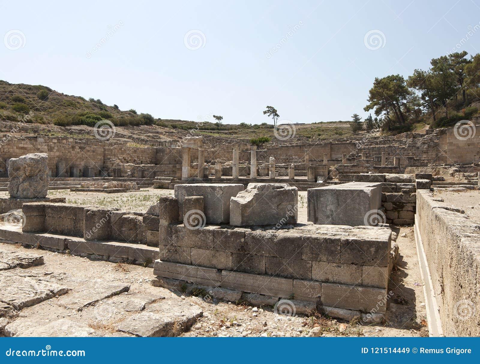 Kamiros antique en Rhodes