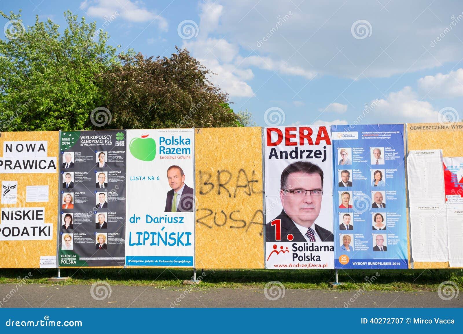 Kampania Wyborcza Plakaty Fotografia Editorial Obraz