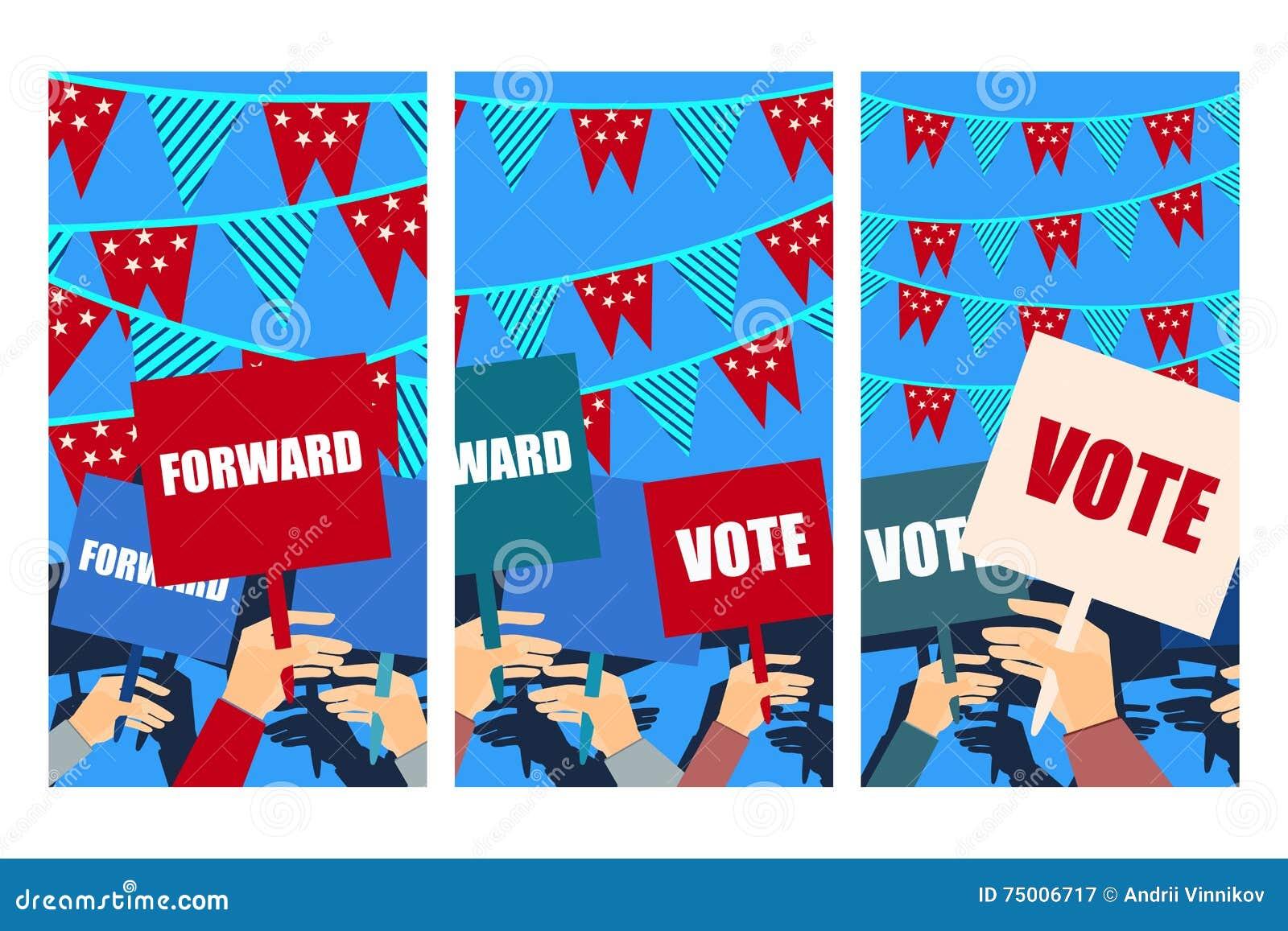 Kampania Wyborcza Wybory Głosowanie Wybory Plakat Trzyma