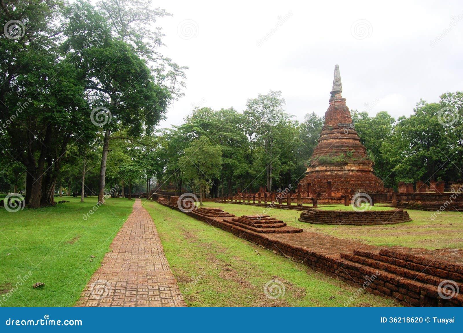 Kamphaeng Phet Historical Park Aranyik Area Buddha Of