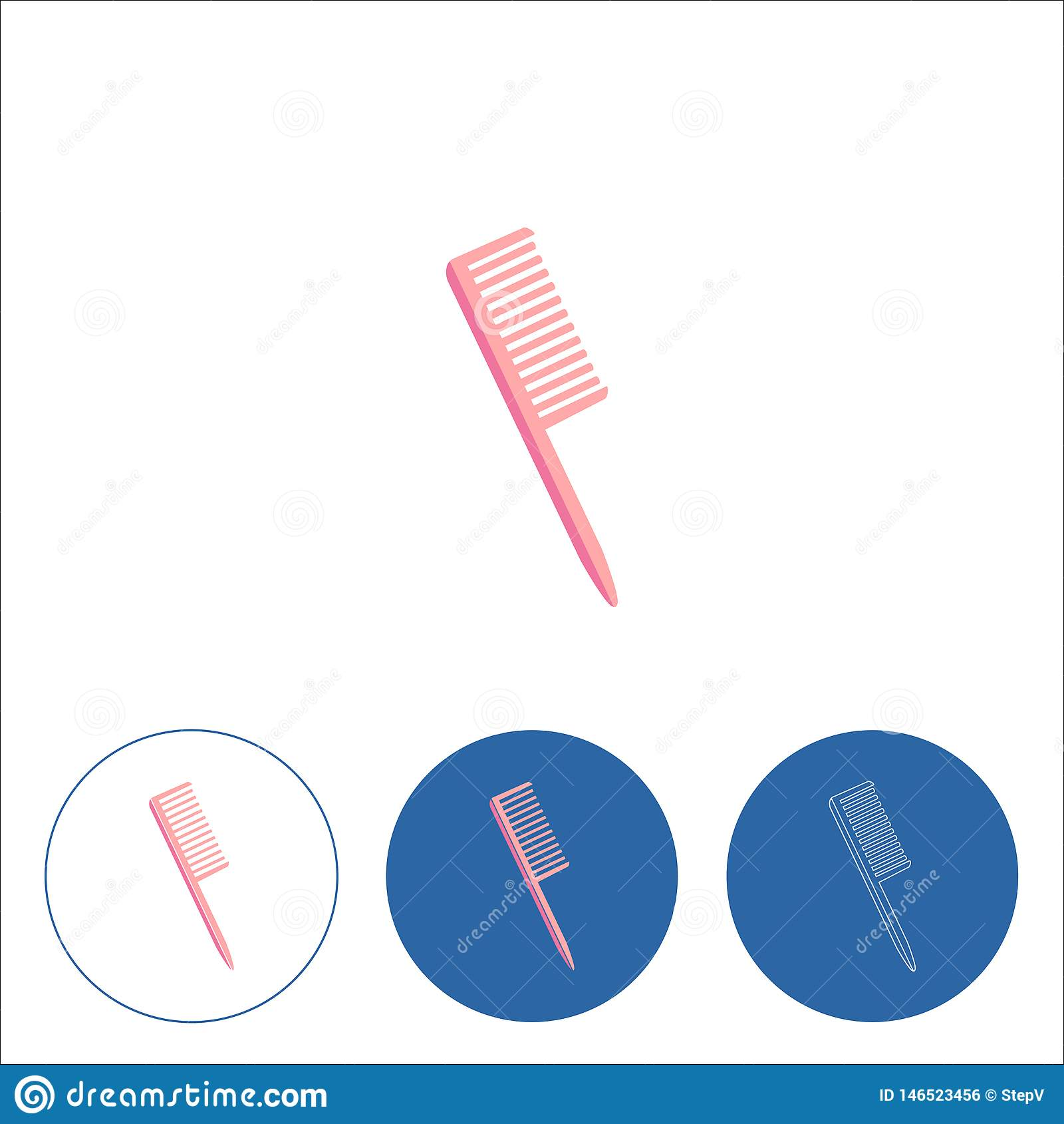 Kampictogram op witte achtergrond Het kappenmateriaal Vector illustratie