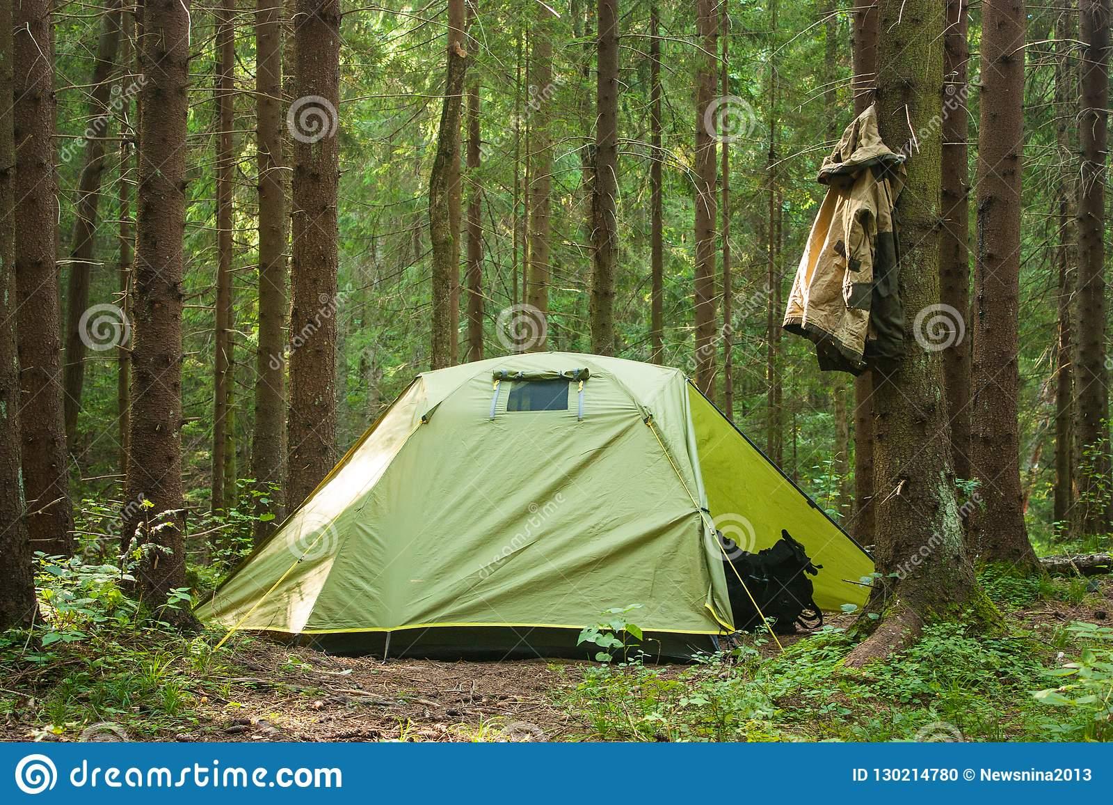Kamping-Baum-Sommer-grüne Forest Nature Sun Happy Trip-Reise-Tasche