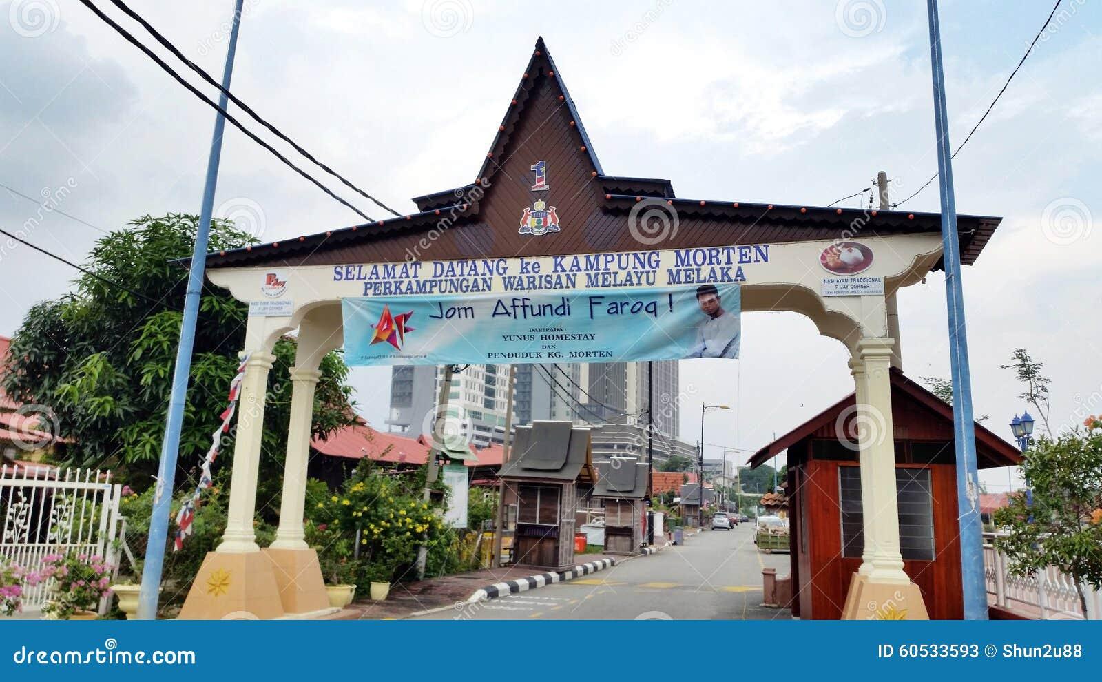 Kampung Morten Melaka ditorial Stock Photo - Image: 60533593 - ^