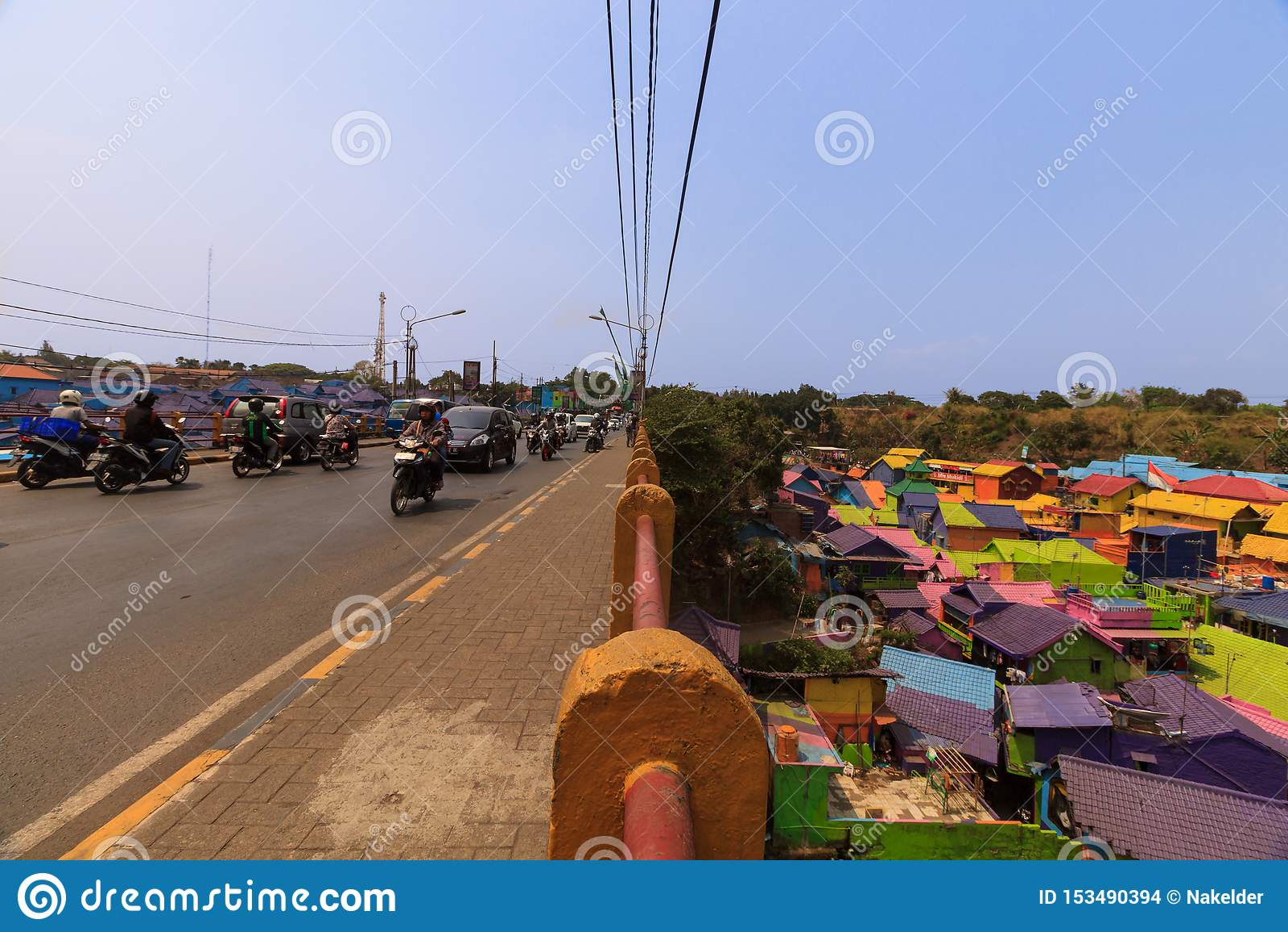 Kampung Warna Warni Jodipan Colourful wioska Malang