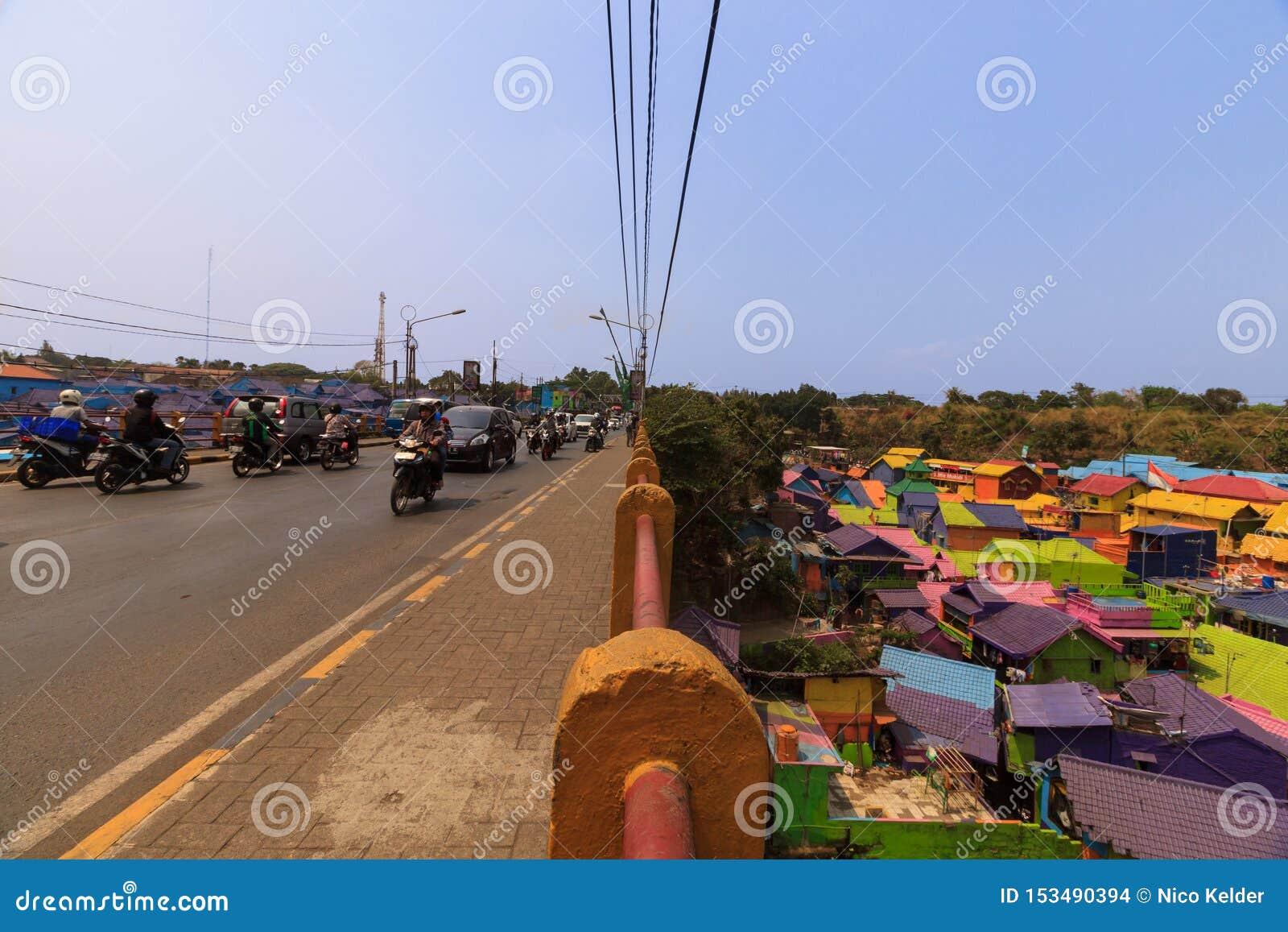 Kampung Warna Warni Jodipan färgglad by Malang