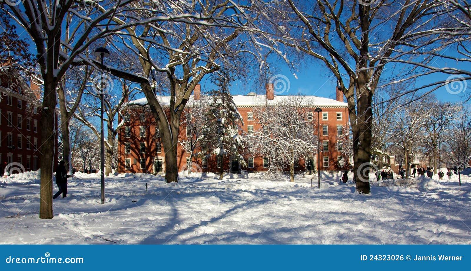 Kampusu dorm Harvard śniegu burzy uniwersytet