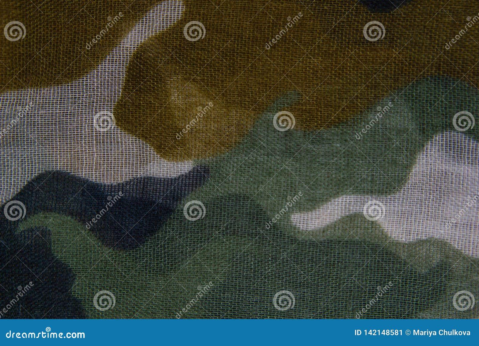 Kamuflaż deseniowa sukienna tekstura
