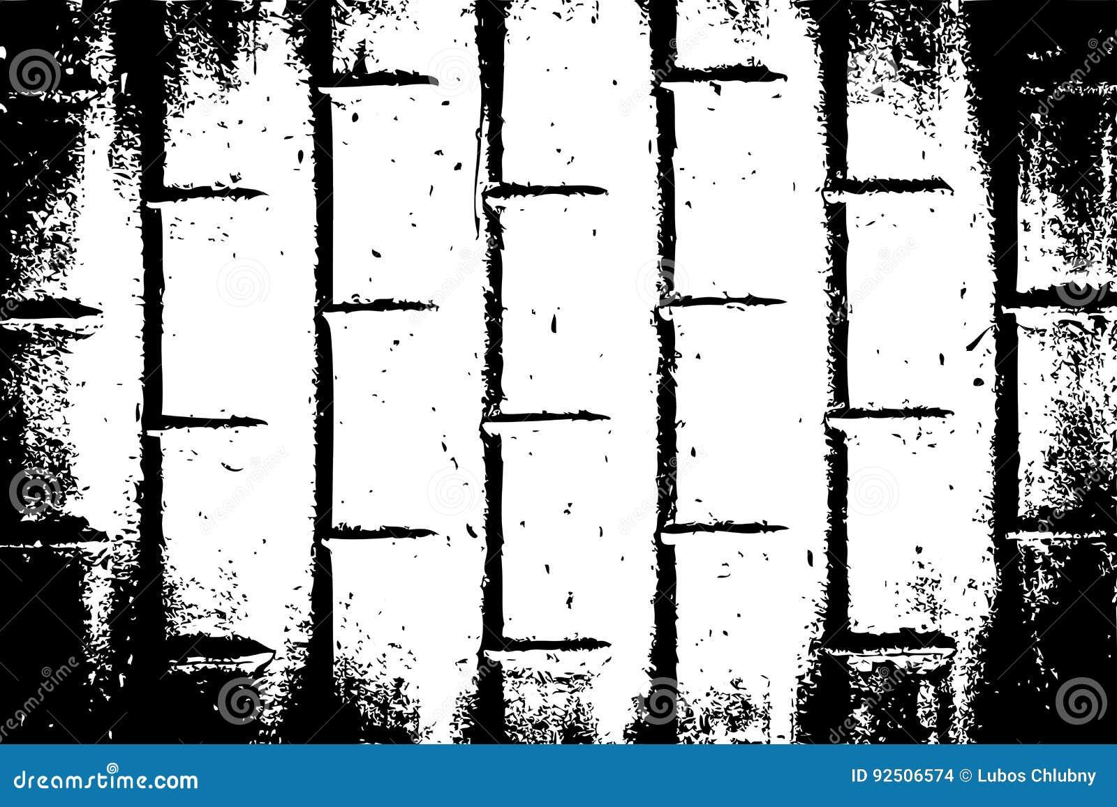 Kan als prentbriefkaar worden gebruikt Malplaatje van de Grunge het Zwart-witte Stedelijke Vectortextuur