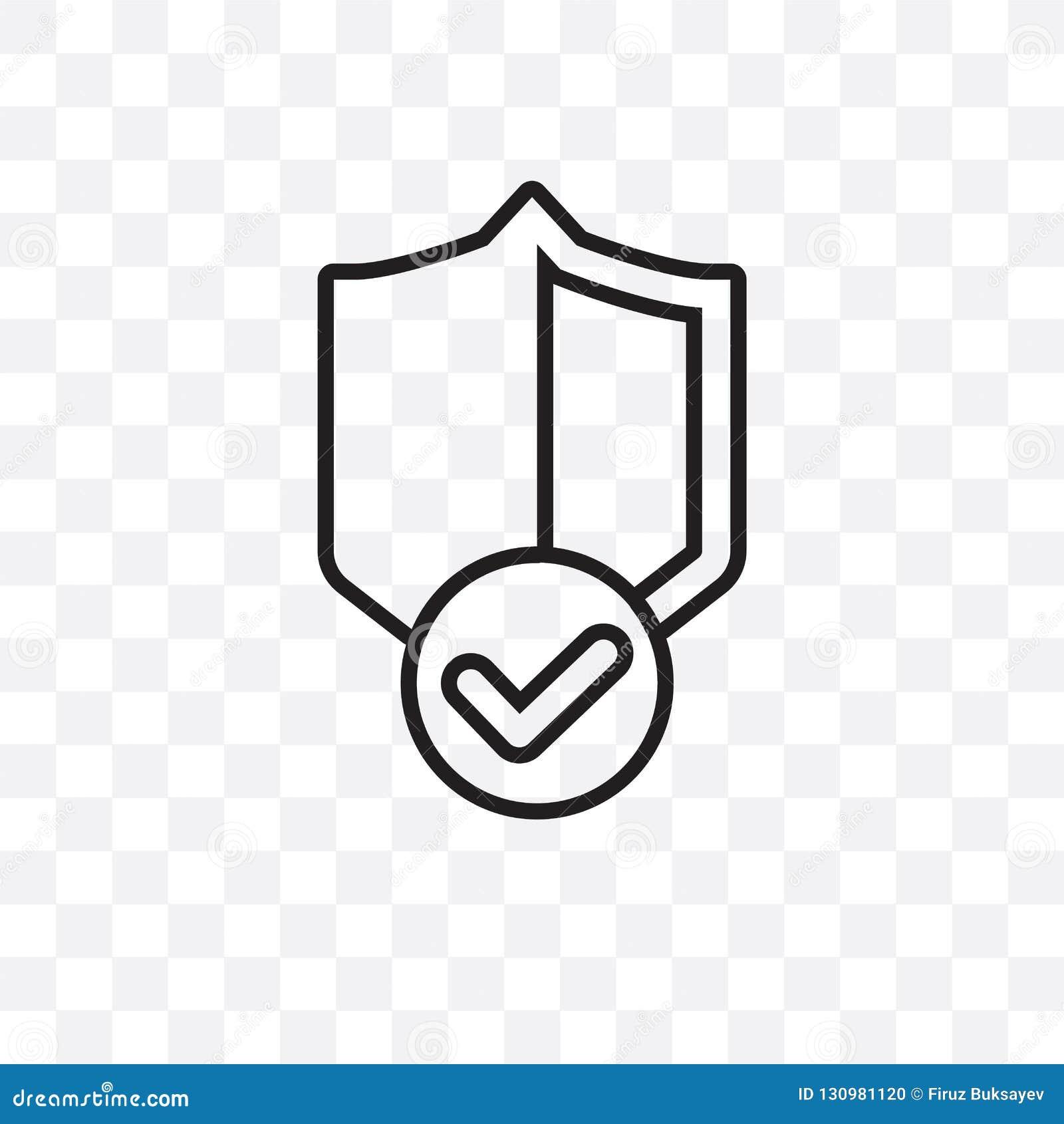 Kan den linjära symbolen för borgensköldvektorn som isoleras på genomskinlig bakgrund, begrepp för borgensköldstordia, användas f