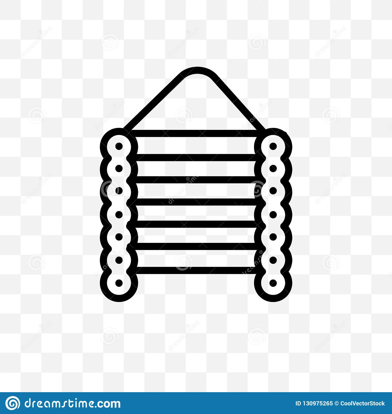 Kan den linjära symbolen för julkabinvektorn som isoleras på genomskinlig bakgrund, begrepp för julkabinstordia, användas för den