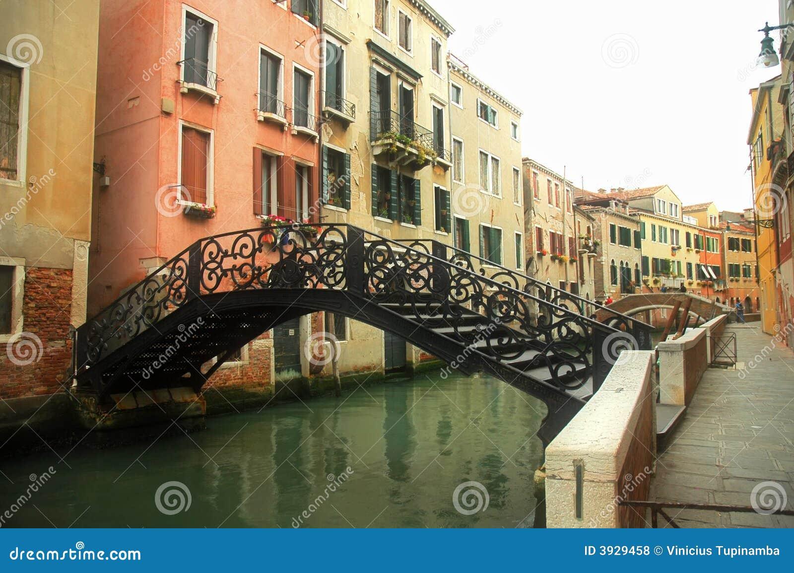 Kanał na most w Wenecji