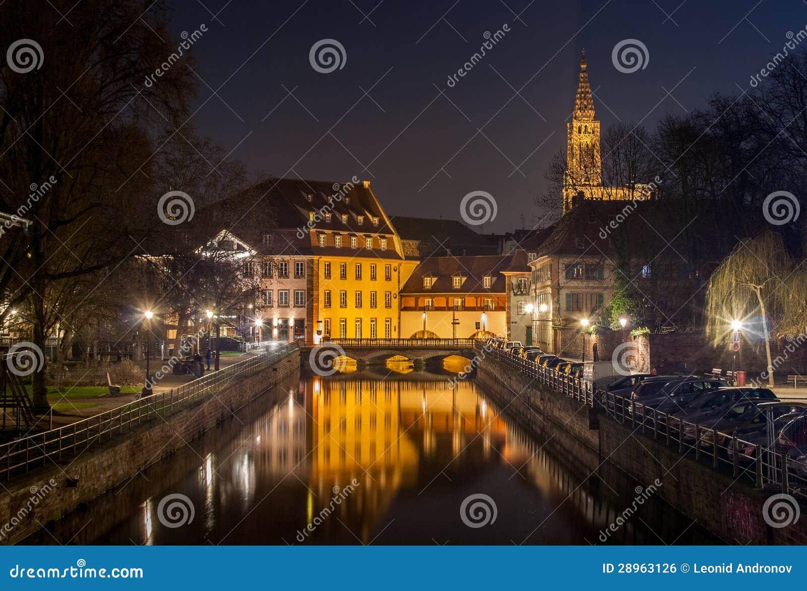 Kanał w Małym Francja terenie, Strasburg