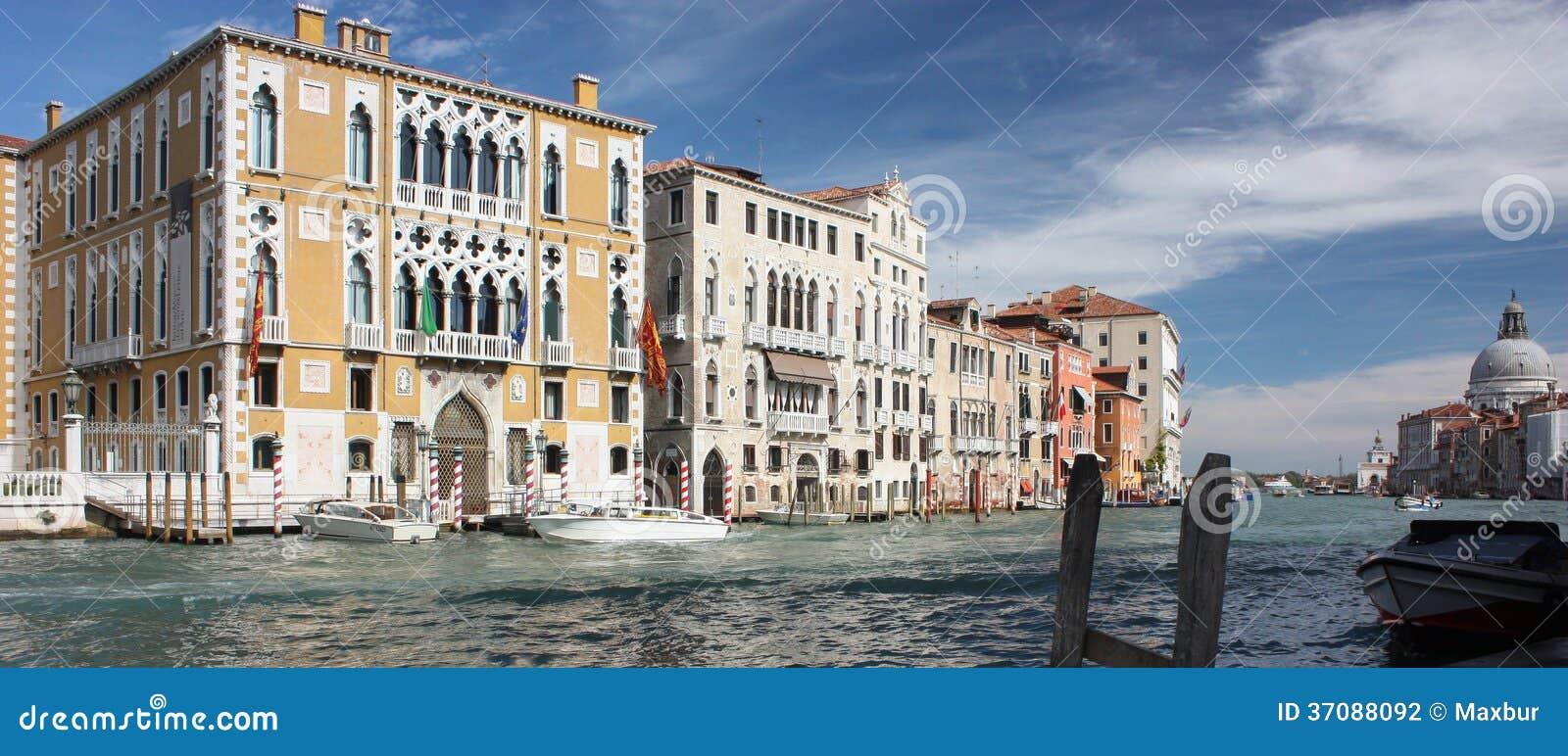 Download Kanał Grande Wenecja Panarama Zdjęcie Stock - Obraz złożonej z panoramiczny, widok: 37088092