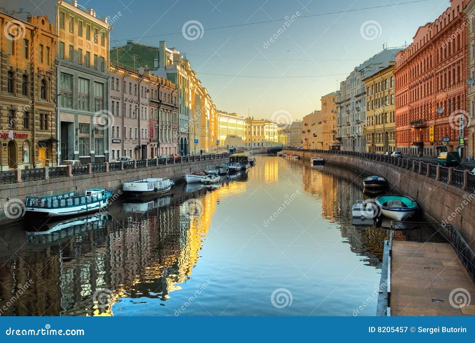 Kanaal bij St. Petersburg