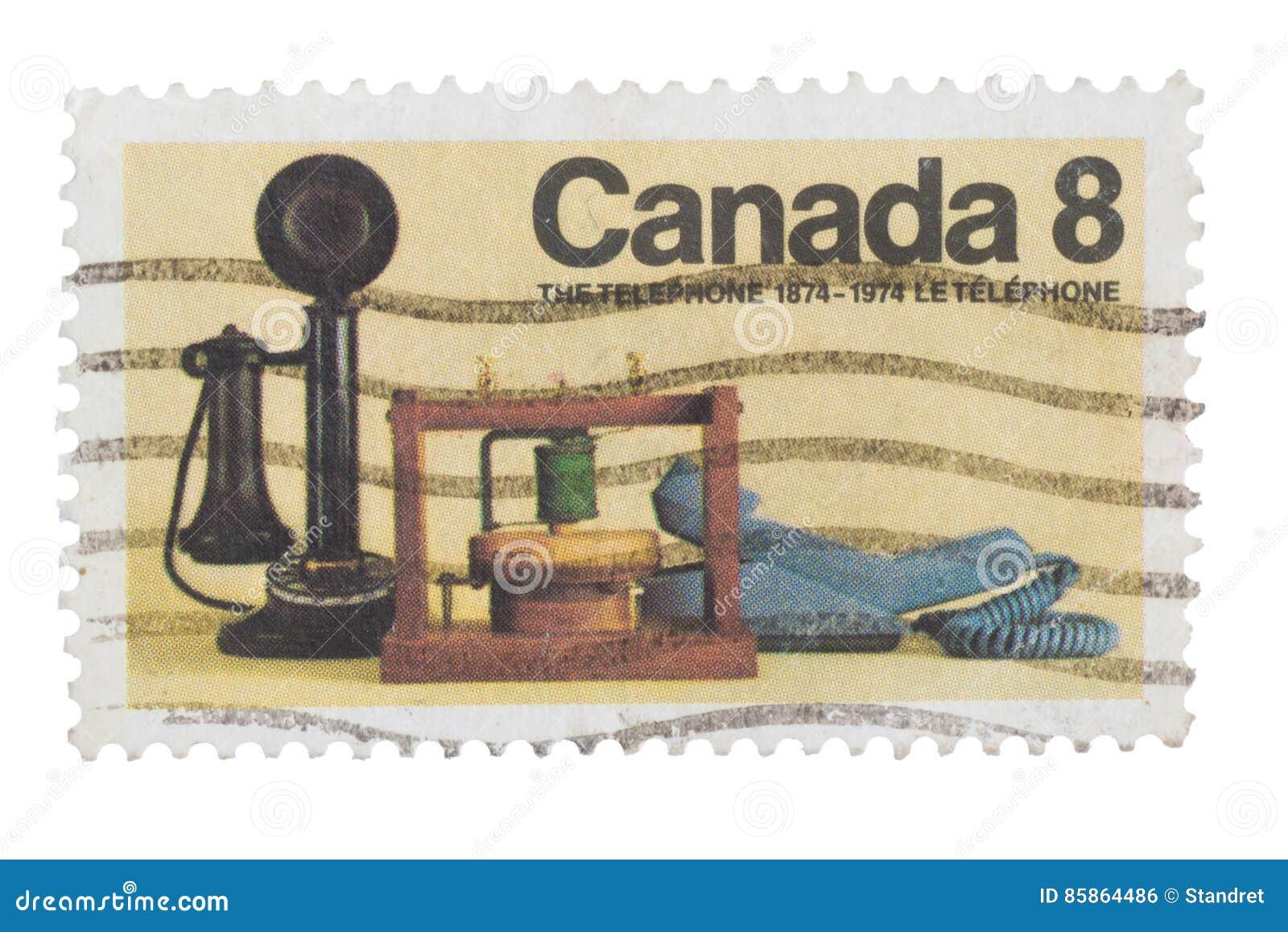 KANADA - CIRCA 1974: En stämpel skrivev ut in utfärdat för 10na