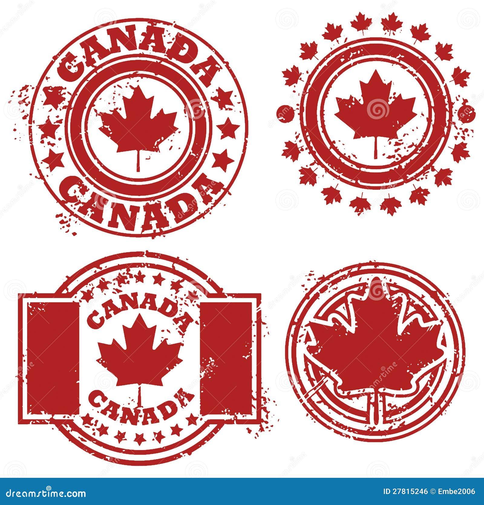Kanada flaggastämpel