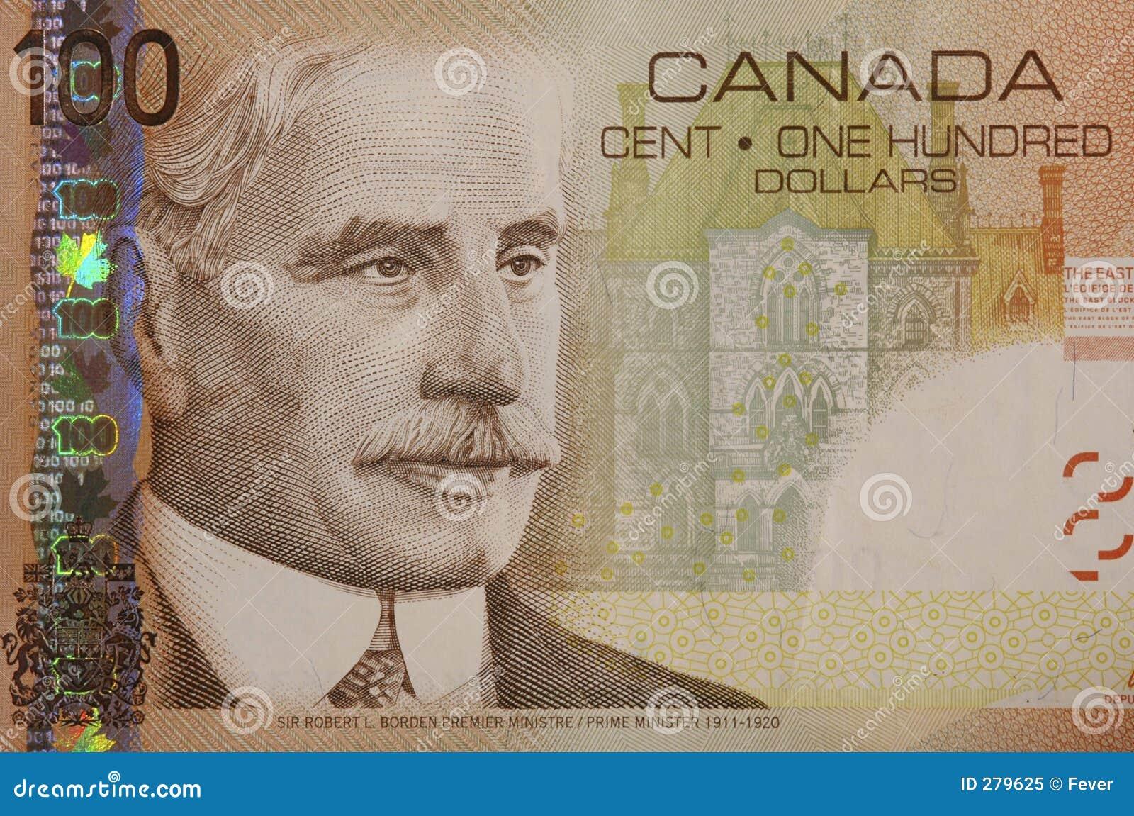 Kanadensaredollar för 100 bill
