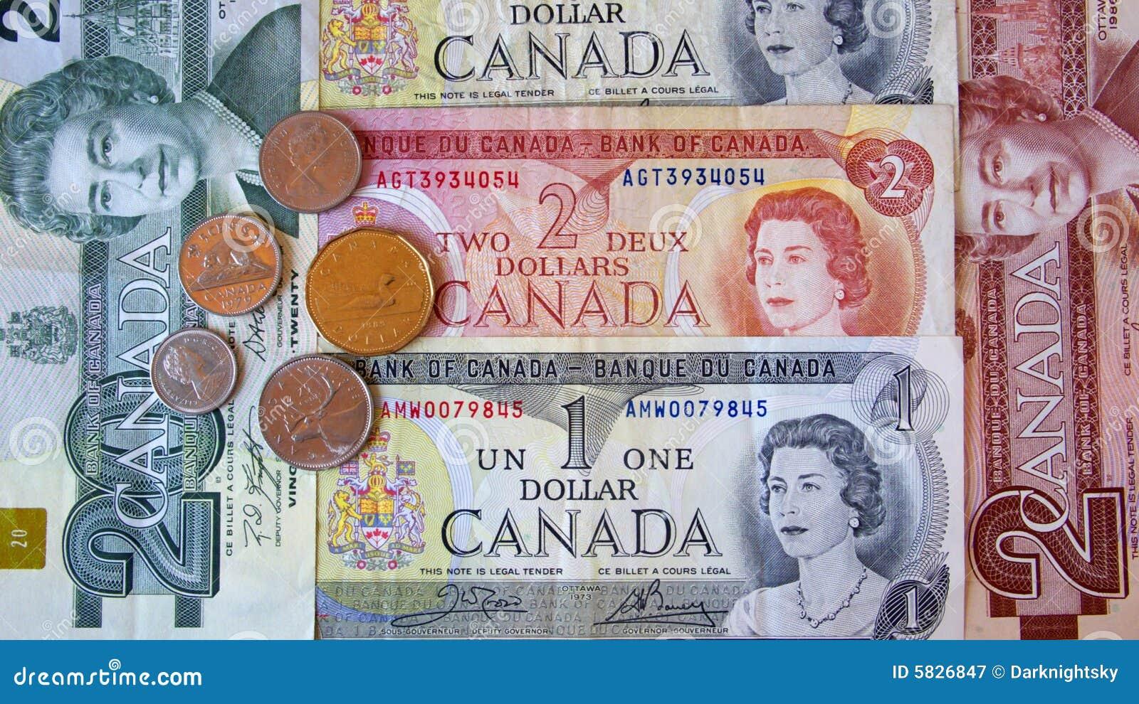 Kanadischer Dollar Redaktionelles Stockfotografie