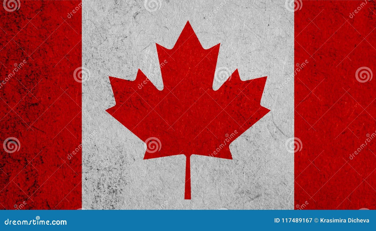 Kanadyjczyk flaga na papierowym tle