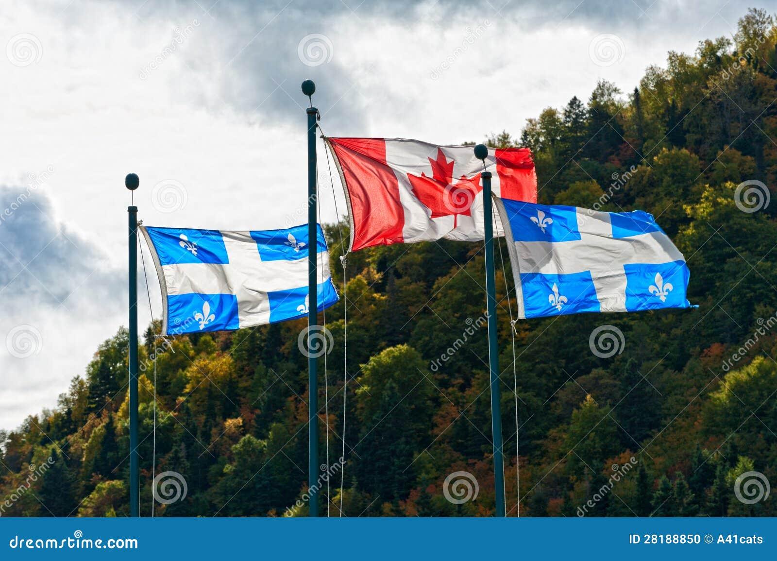 Kanadyjczyk i Quebec flaga
