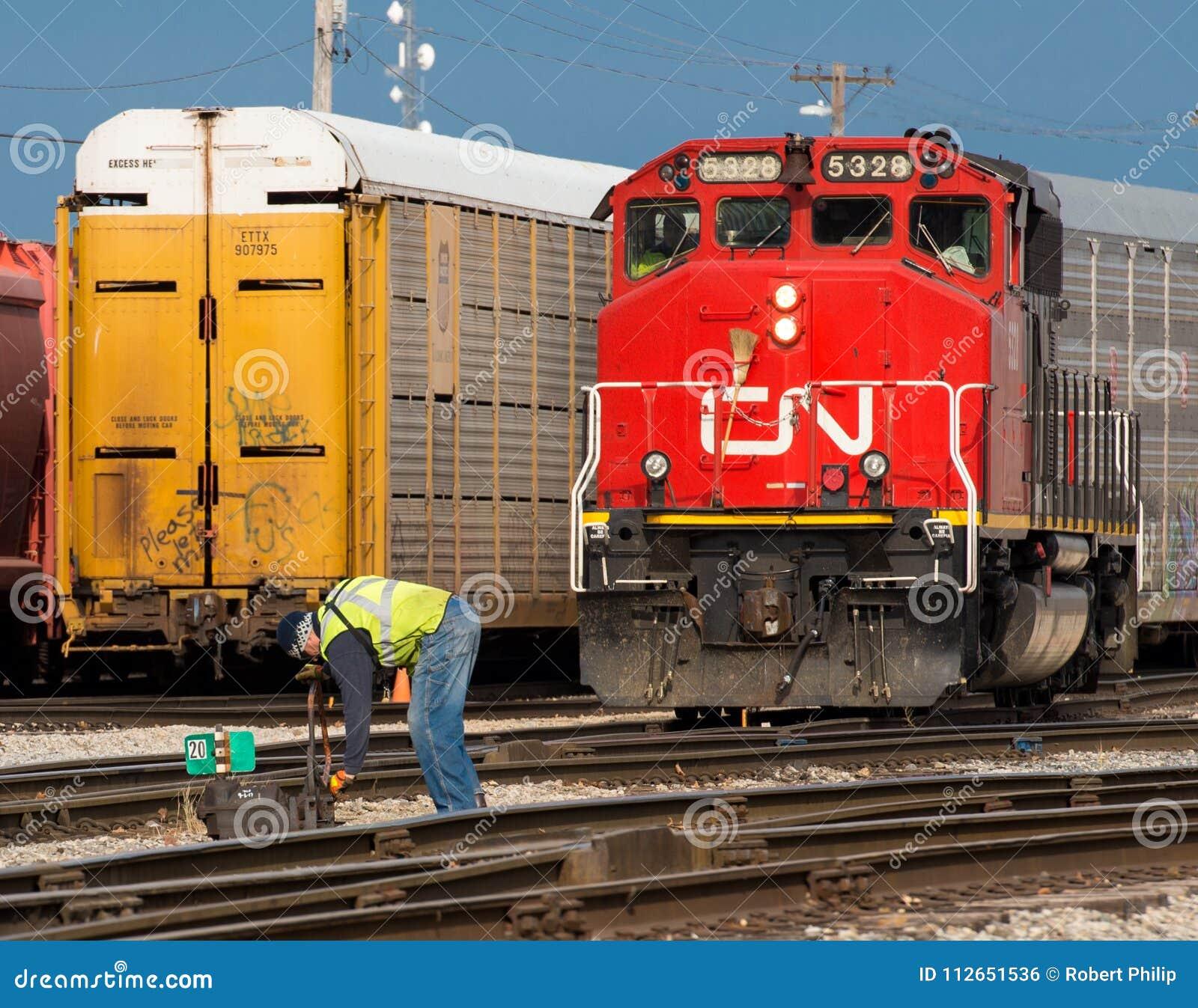 Kanadyjski obywatel zmiany mężczyzna reroutes lokomotywę