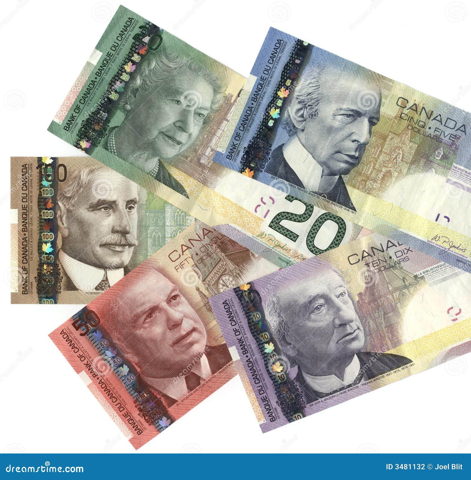 Kanadyjskie nowej waluty
