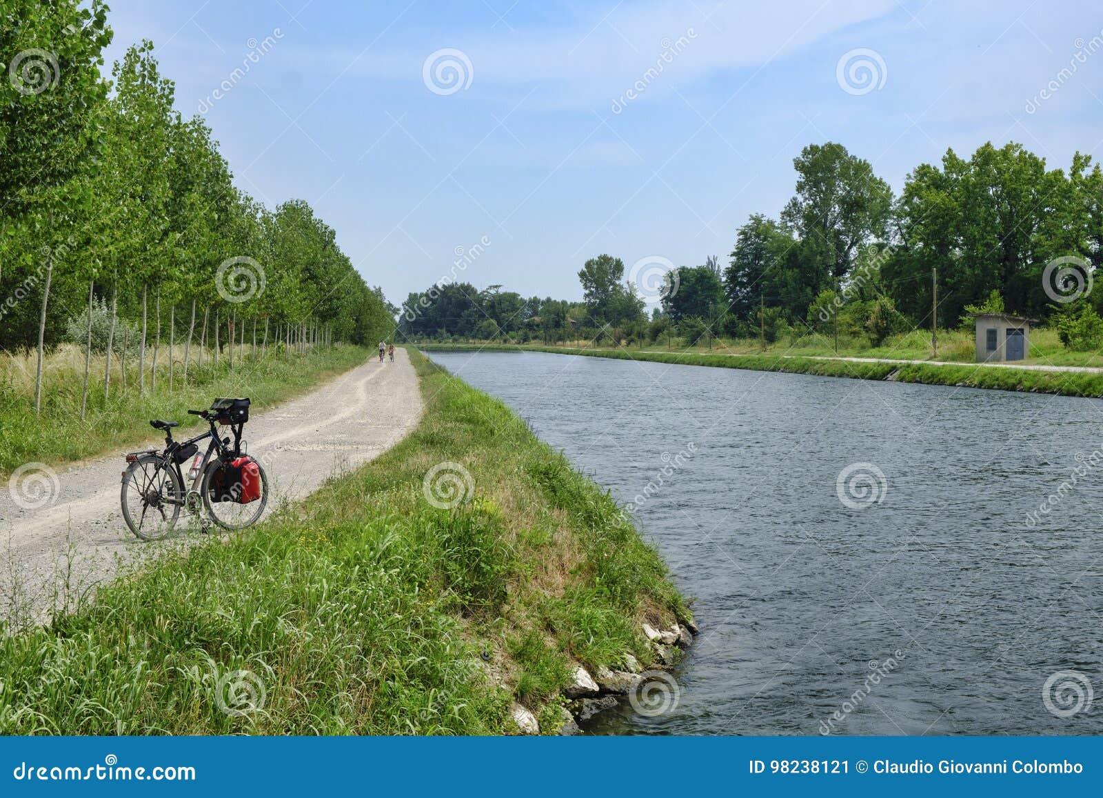 Kanal Bacchelli Cremona, Lombardei, Italien