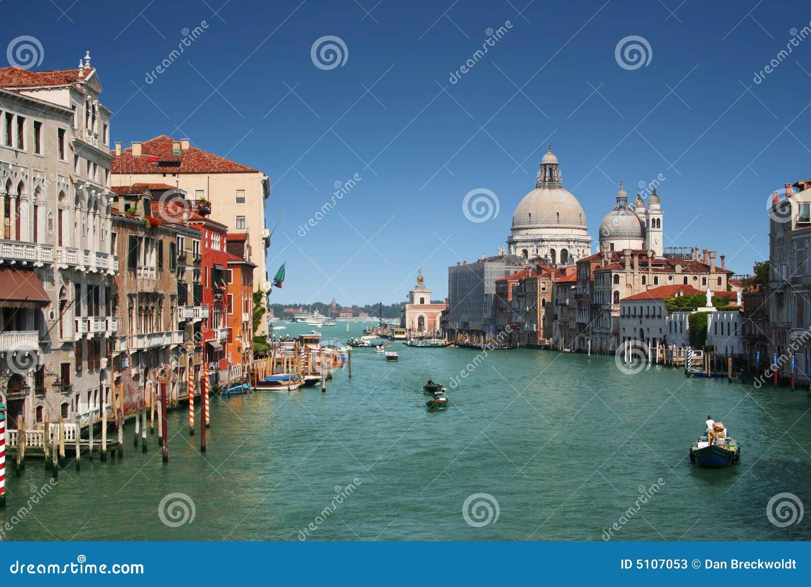 Kanal storslagna italy venice
