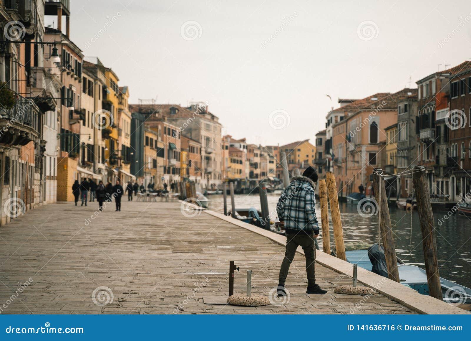 Kanal in Venedig Italien