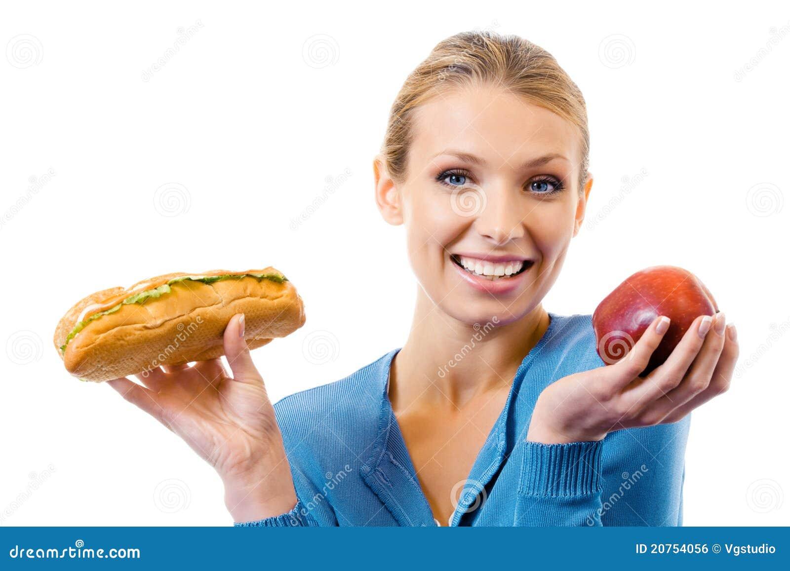 Kanapki jabłczana kobieta